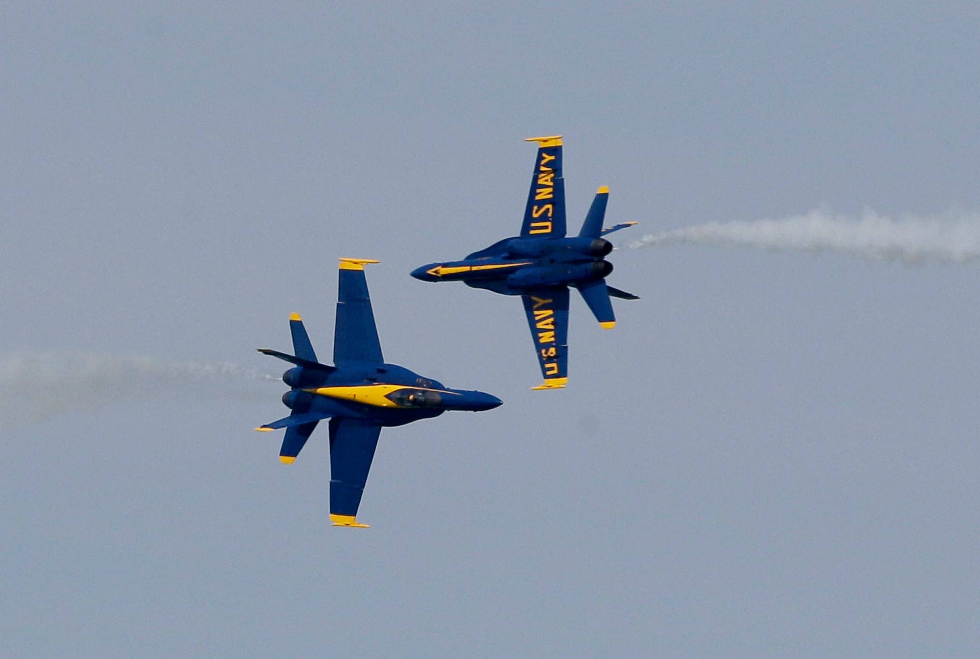 The U.S. Navy Blue Angels return to the Chicago Air and Water Show. The popular military act was not on the bill last year because of the government sequester.