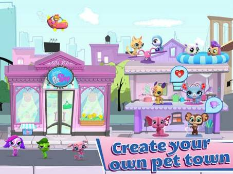 Littlest Pet Shop's free app.Ages: 4 and upYour child will wash, feed, and play with pets at the shop through educational and fun mini-games.