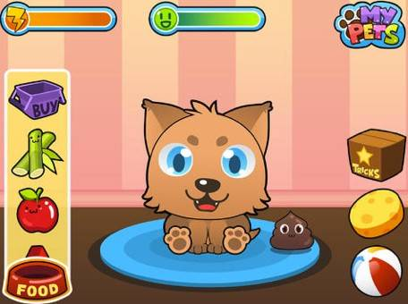My Virtual PetCost: FreeAges: 4 and upMy Virtual Pet gives your child all the fun of owning an actual pet. Your child can feed, clean, and train a dog, cat, hamster or llama. The app teaches your child how to be responsible, while making sure the pet is happy, fed, rested, and clean.