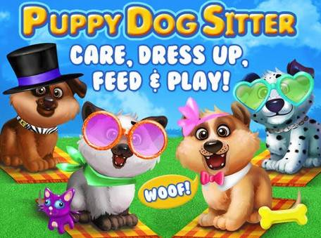 "Puppy Dog SitterCost: FreeAges: 4 and upYour child chooses from four adorable puppies that need someone to feed, clean, and care for them. The job of being a ""doggie sitter"" even includes the task most kids leave for mom or dad to do – picking up the puppy's poop."