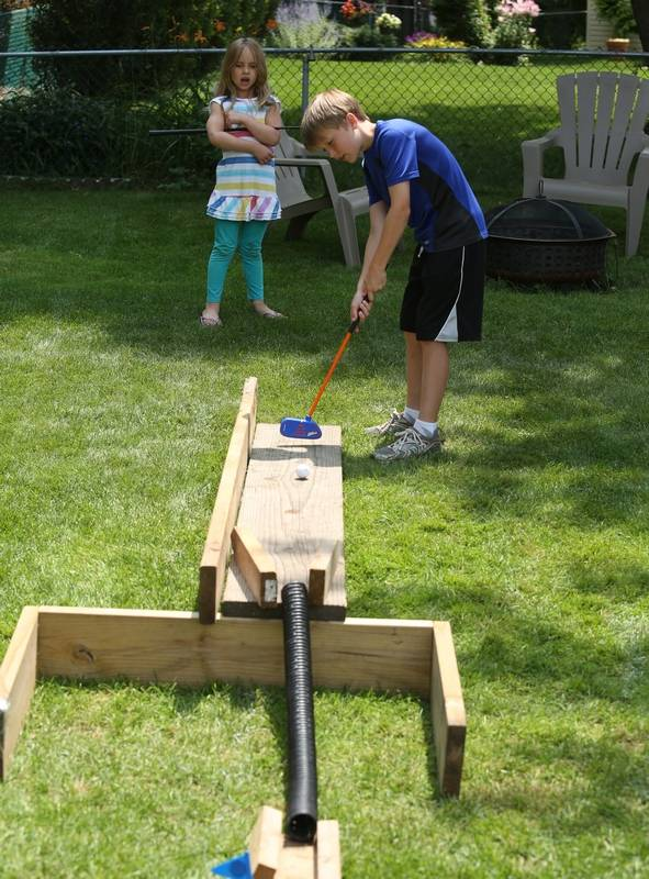 Take items from around house to create your own mini-golf ...