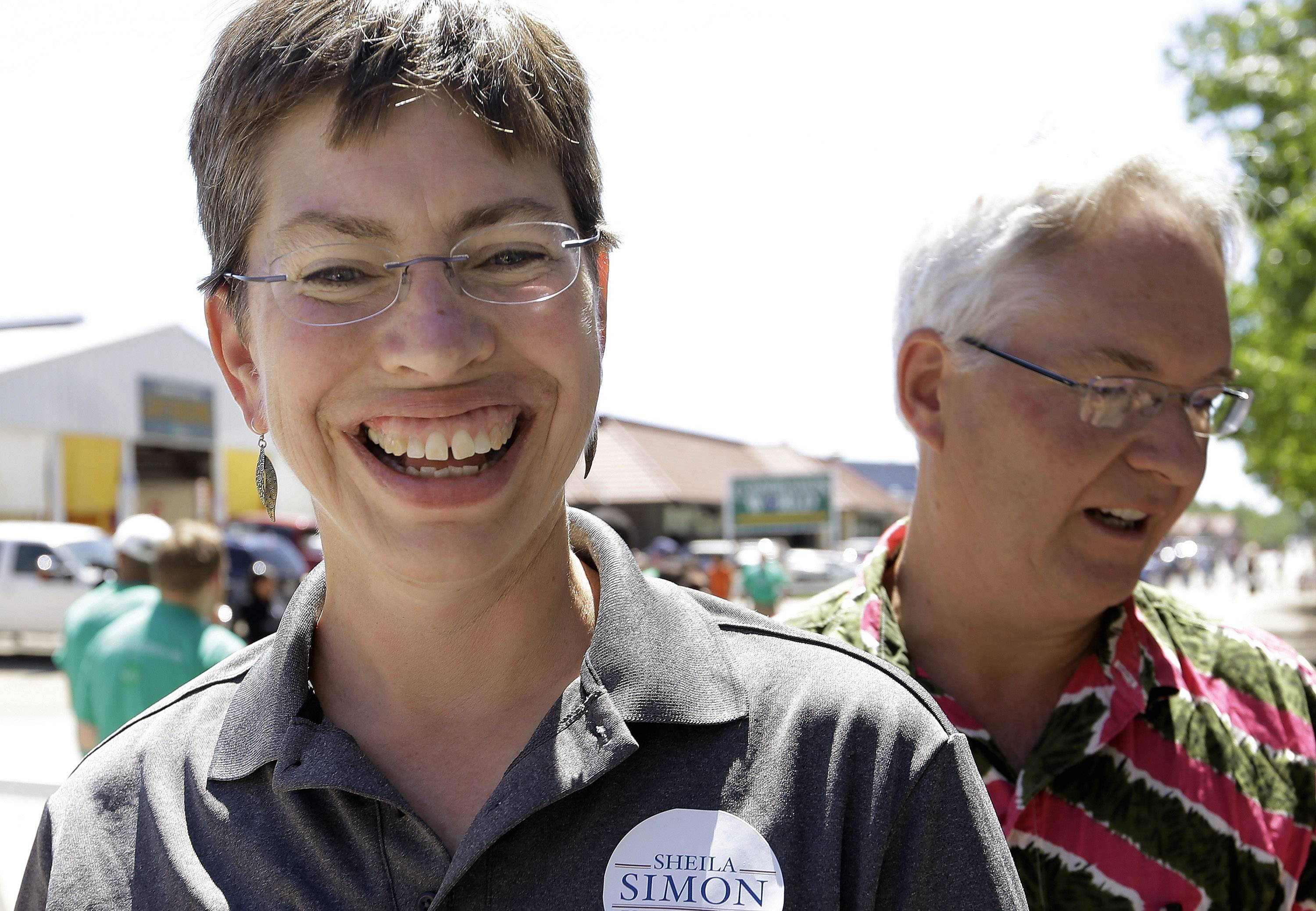 Illinois Lt. Gov. Sheila Simon, the Democratic candidate for the state comptroller, campaigns and participates in Governor's Day at the Illinois State Fair on Wednesday in Springfield.