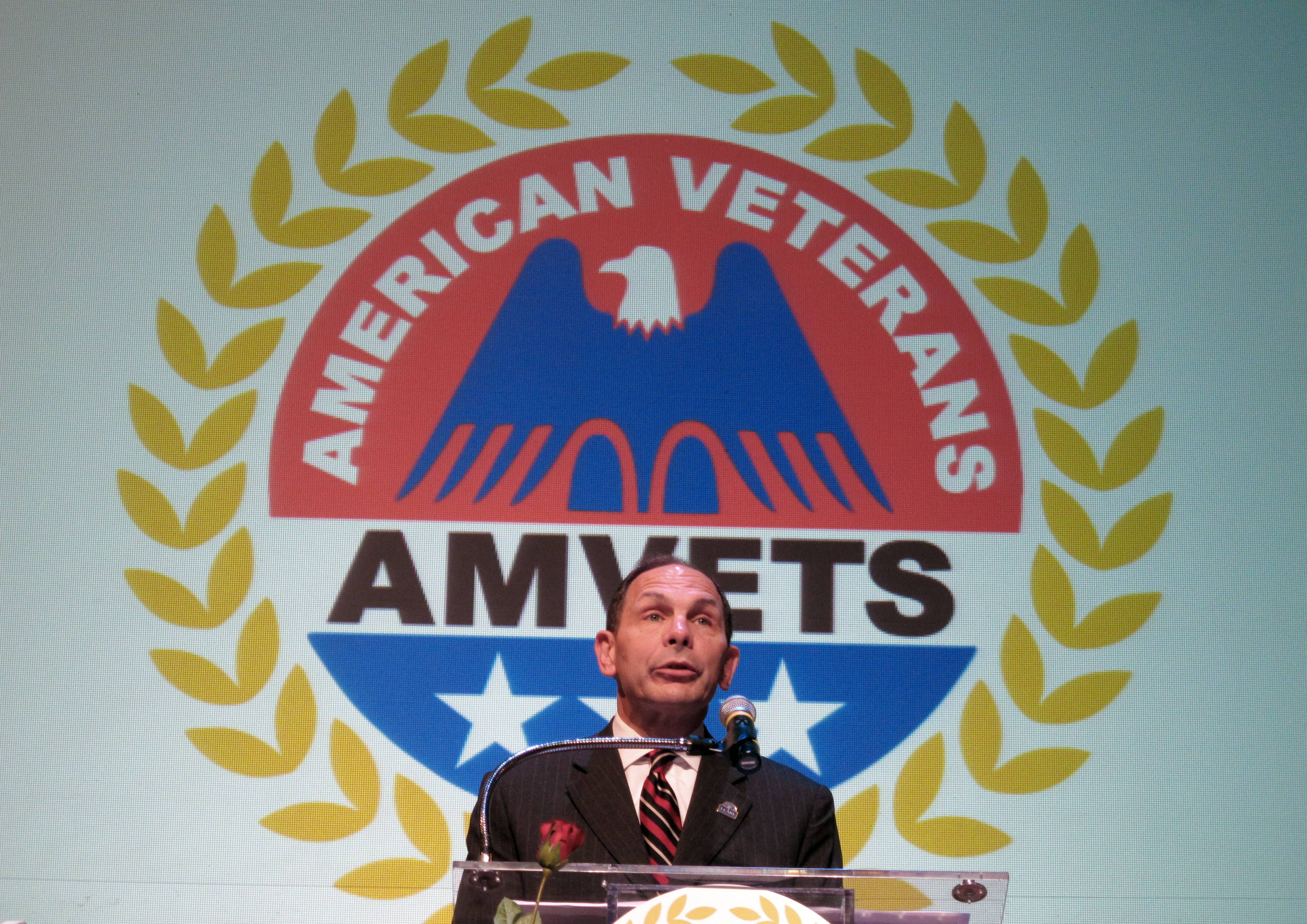 Secretary of Veterans Affairs Robert McDonald speaks to the American Veterans national convention Wednesday in Memphis, Tenn.