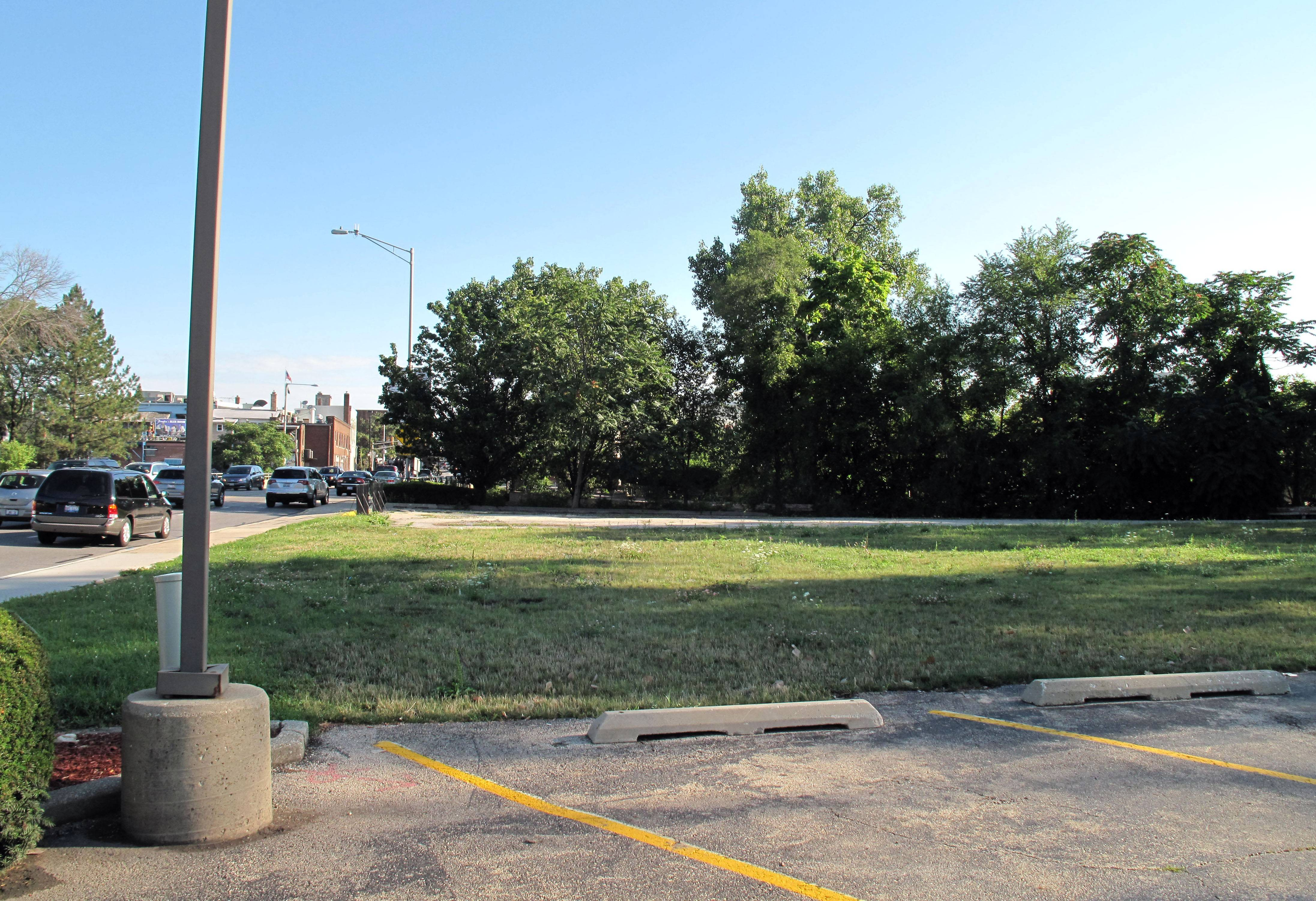 North Central College and the city of Naperville's Riverwalk Commission have begun the first phase of engineering work on a park and plaza at this site at 430 S. Washington St.