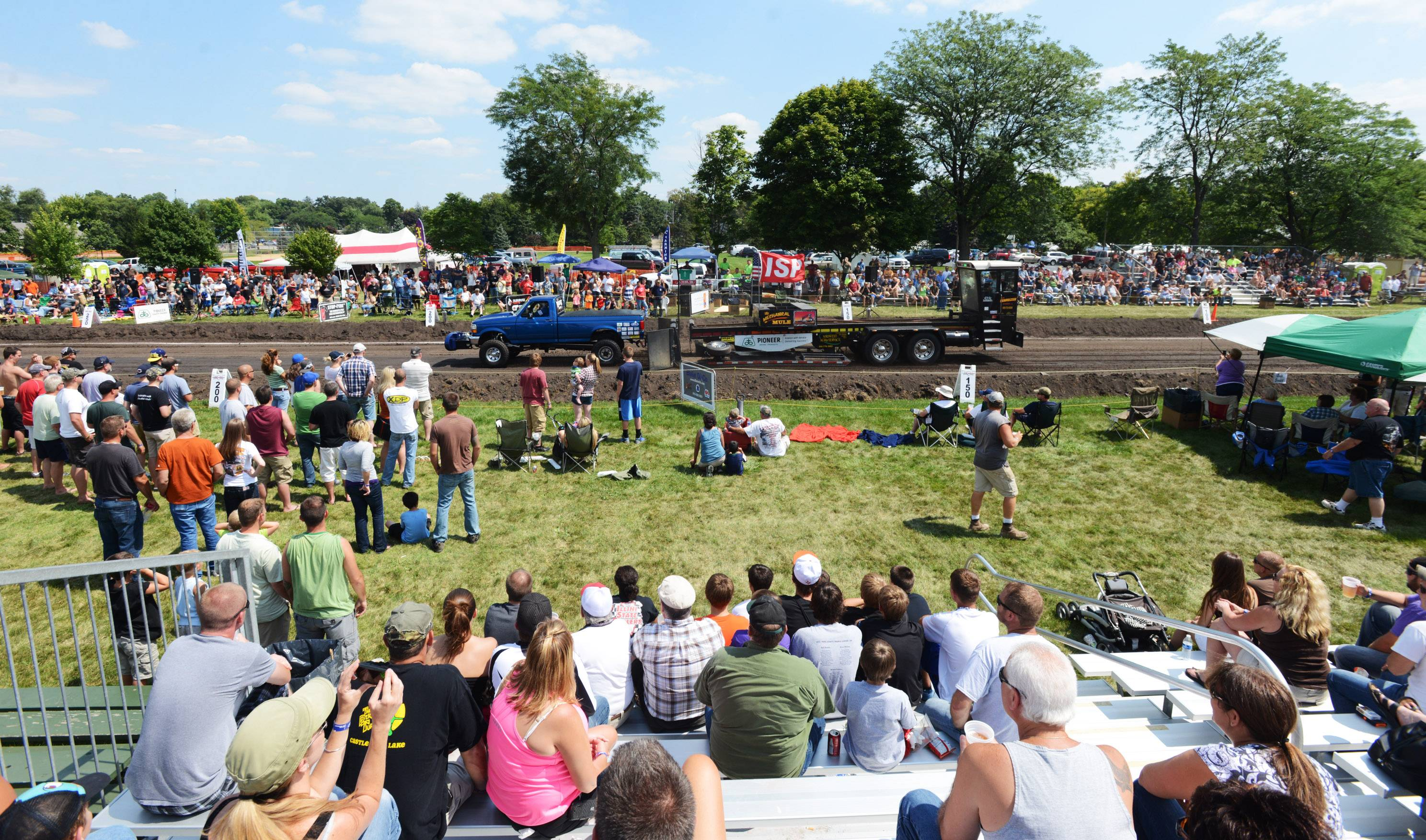 A large crowd gathers to watch the truck pull at last year's Elburn Days Festival.