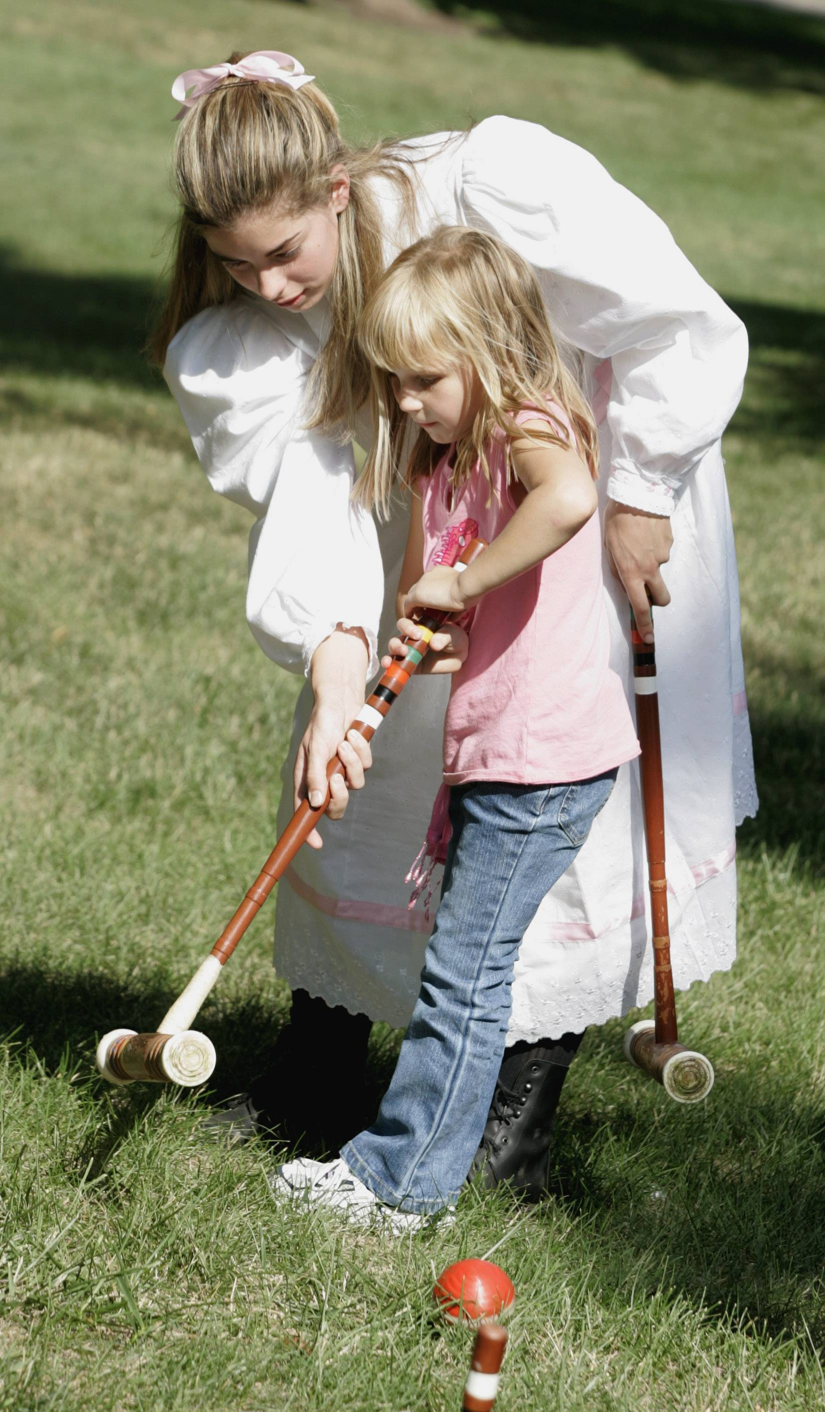 Naperville Plays! offers a variety of activities, including a little Sunday afternoon croquet on the lawn of the Martin Mitchell Mansion at Naper Settlement.