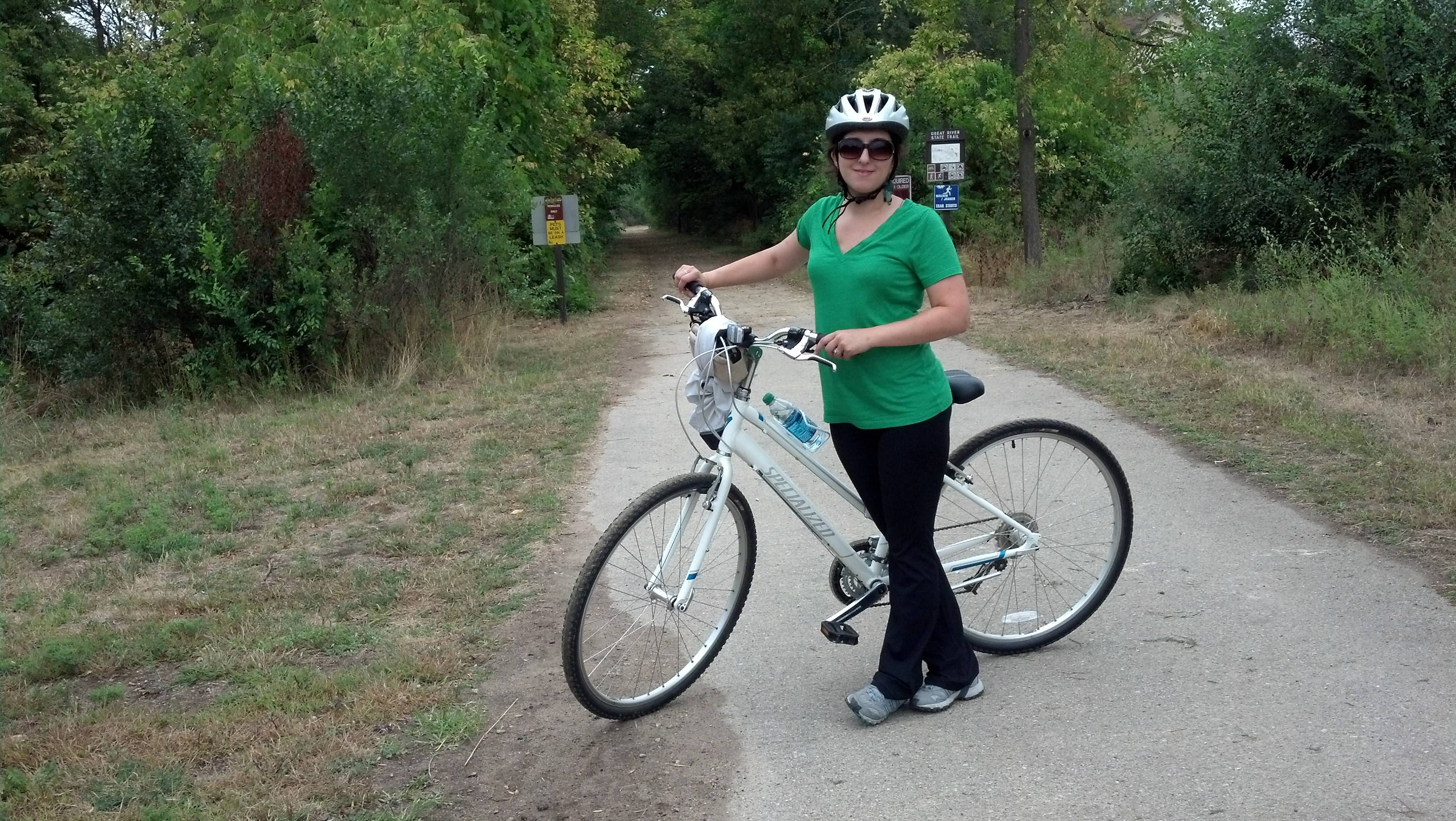 The Great River State Trail in Onalaska, Wis., offers 101 miles of bike paths, and there are trails for all ages and skill levels.