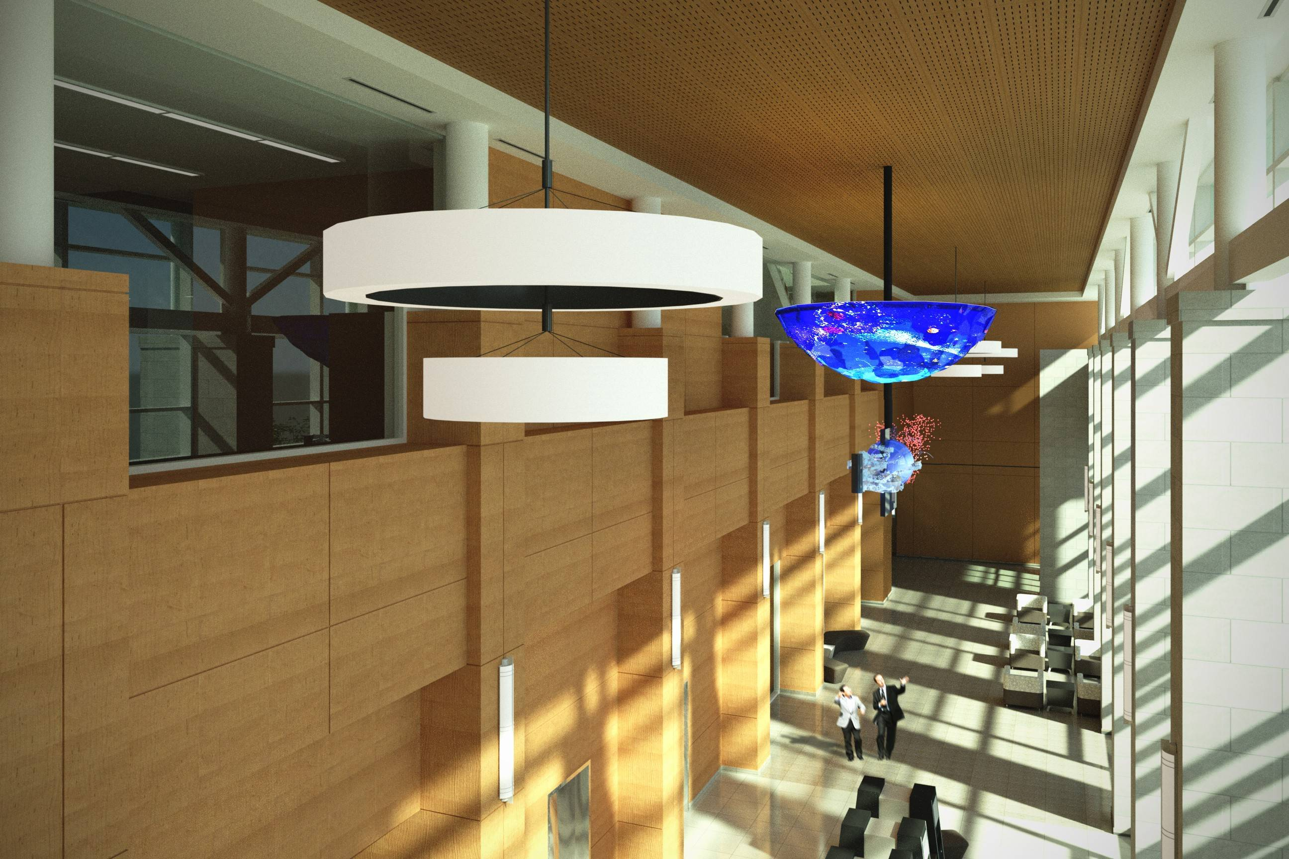 "The ""Dream Catcher"" sculpture will hang prominently inside the John C. Dunham Atrium of the Richard and Gina Santori Public Library."