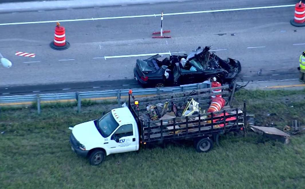 Police continued to search for a driver who fled the scene of a crash early Thursday on the westbound Elgin-O'Hare Expressway.