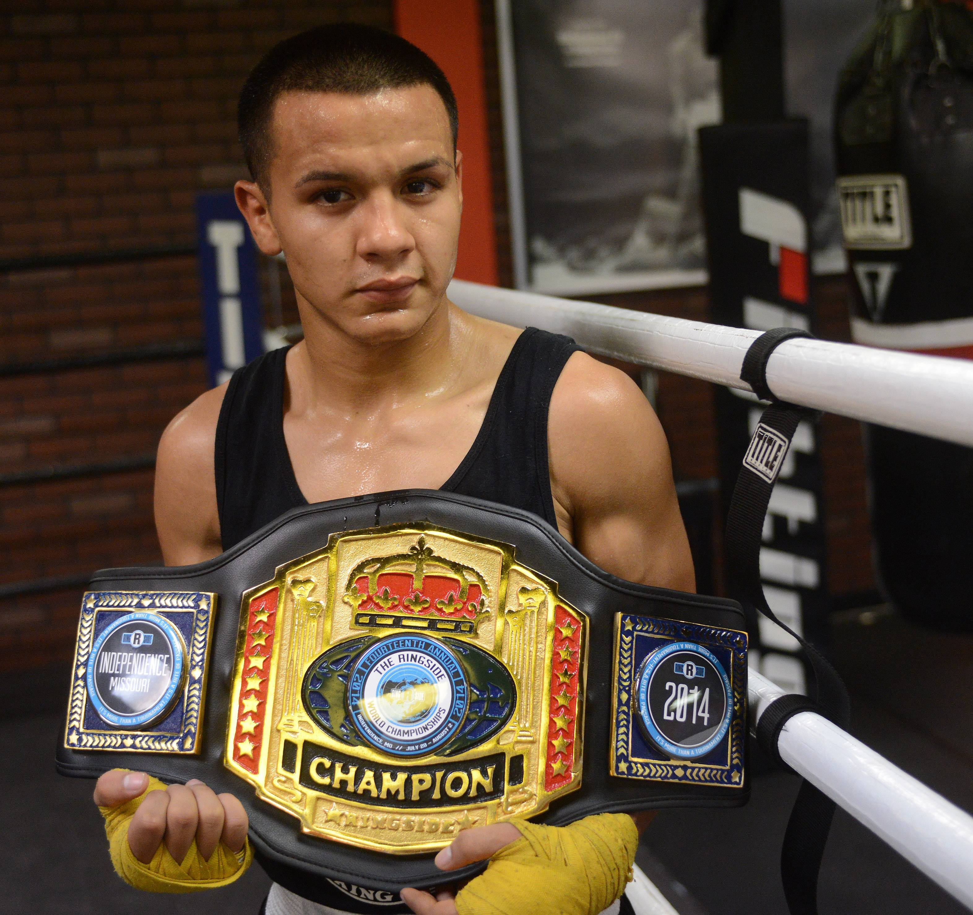 Javier Rivera, 19, won a title at the 14th annual Ringside World Championships in Missouri. This is the biggest title of his amateur boxing career, which boasts a 29-2 record.
