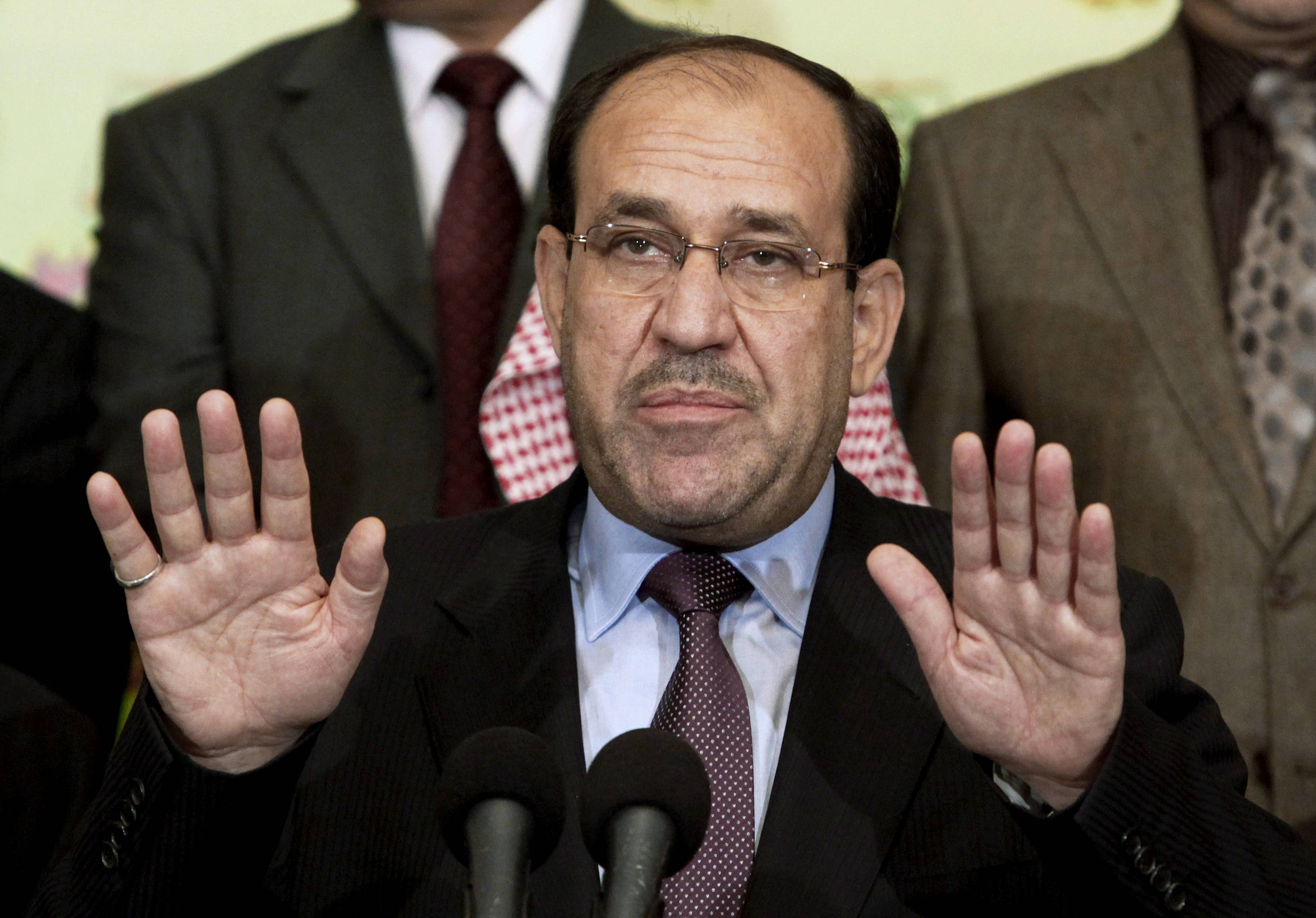 Iraqi Prime Minister Nouri al-Maliki has given up his post as prime minister to Haider al-Abadi, state television reported Thursday, Aug. 14, 2014 — a move that could end a political deadlock that plunged Baghdad into uncertainty as the country fights a Sunni militant insurgency.