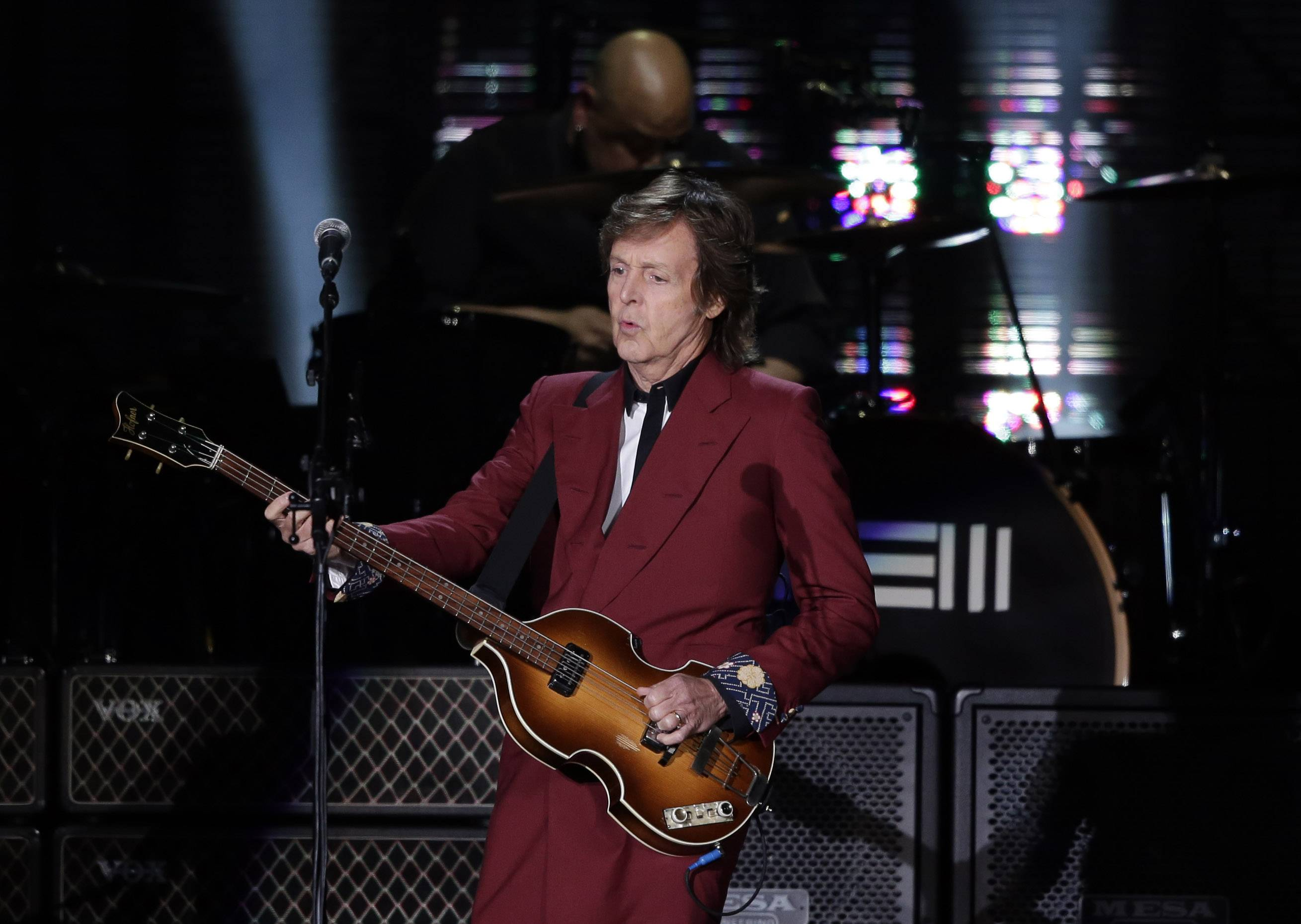 Paul McCartney performs on Thursday, Aug. 14, 2014, at Candlestick Park in San Francisco. San Francisco is saying goodbye to the stadium where its beloved Giants and 49ers celebrated some of their greatest triumphs.
