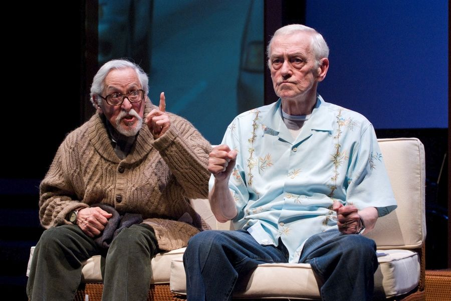 "Mike Nussbaum, left, and John Mahoney starred in Northlight Theatre's 2008 premiere of Larry Gelbart and Craig Wright's ""Better Late,"" which the company later remounted at the Galway International Arts Festival."