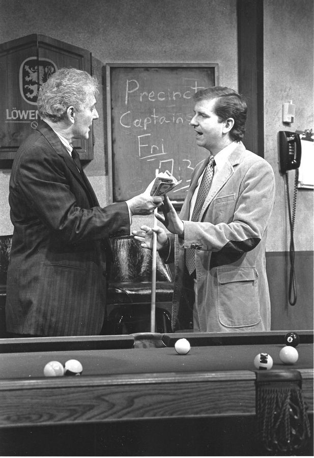 "BJ Jones, right, and Brett Hadley starred in Northlight Theatre's 1992 production of Bruce Graham's ""The Belmont Avenue Social Club,"" which marked the beginning of the playwright's relationship with the Skokie theater."
