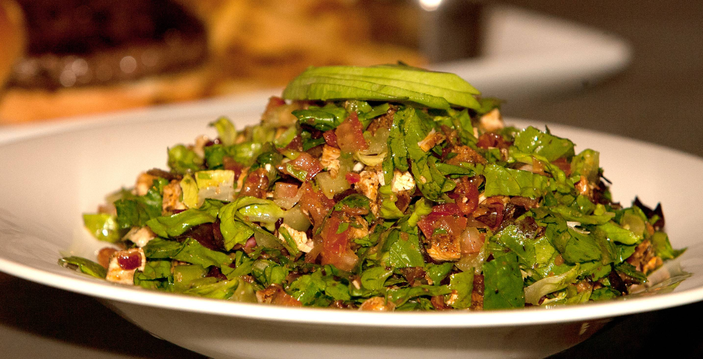 The chopped salad at Neat includes chicken, bacon and avocado.