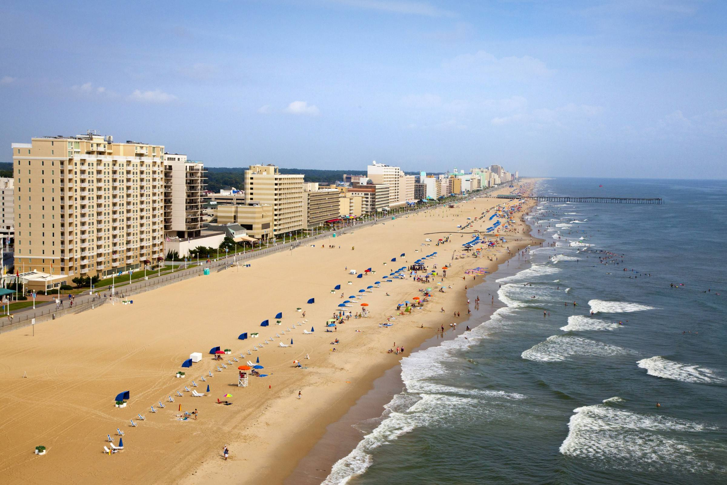 The wide beaches in Virginia Beach are popular with tourists in the summer and are one of a number of free things to see and do in Virginia's largest city.