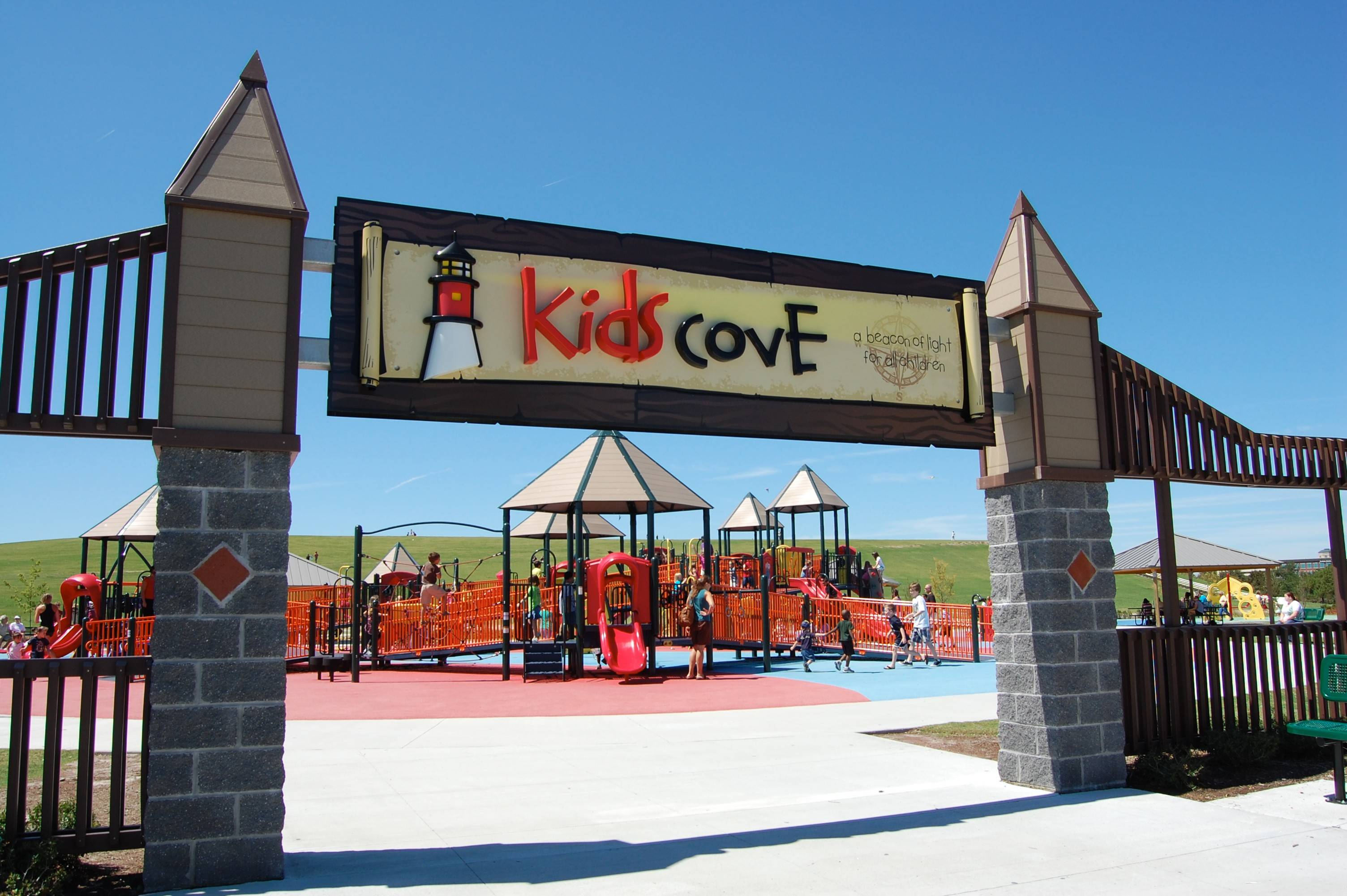 The Kids Cove playground is just one feature at Mount Trashmore, which is a park built on a former landfill that has two man-made mountains, two lakes, a skate park and paths. It's one of a number of free places to visit in Virginia Beach.
