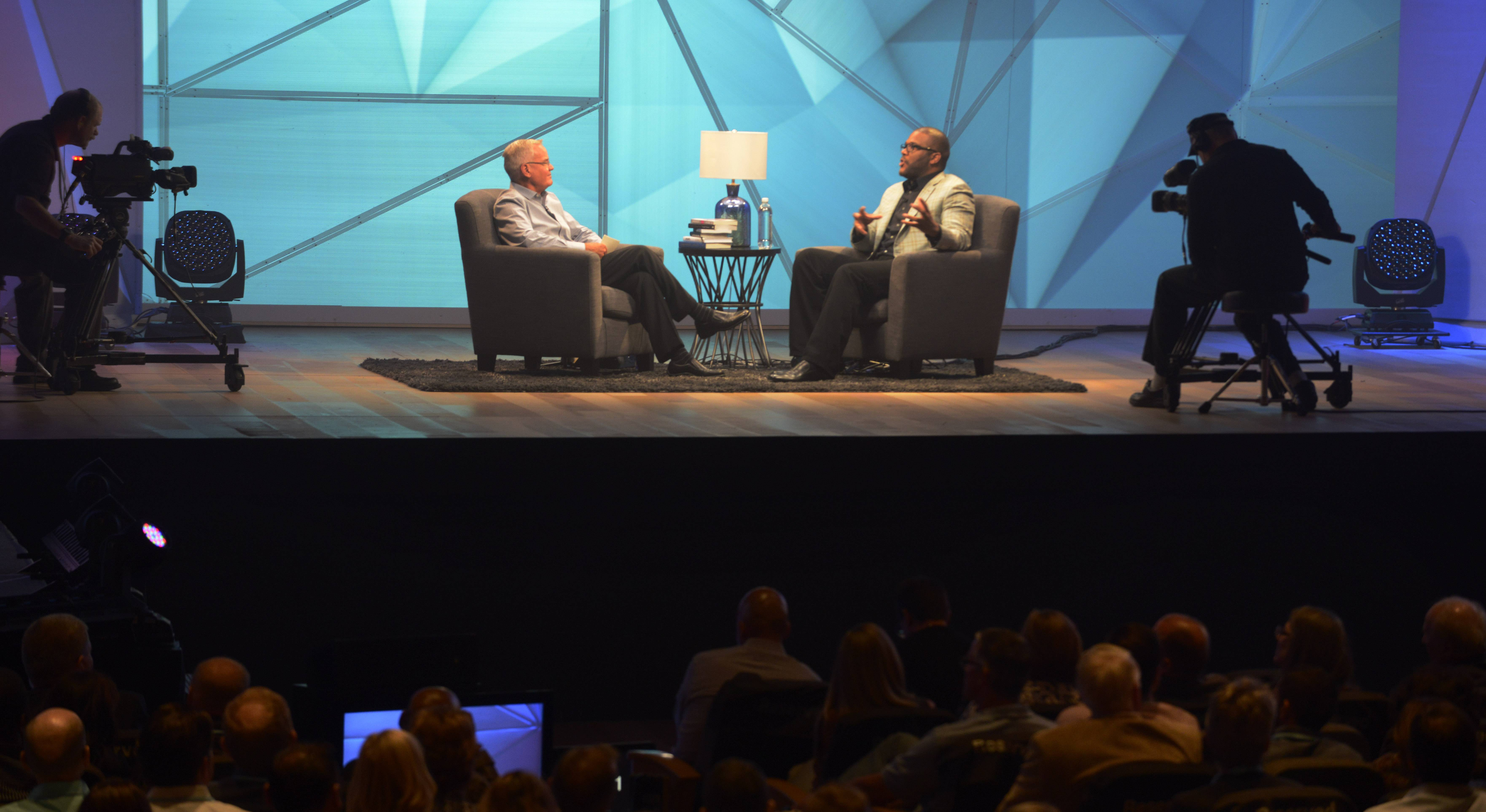 Tyler Perry tells Willow Creek Community Church Senior Pastor Bill Hybels how a difficult, yet inspiring childhood informs his work today.