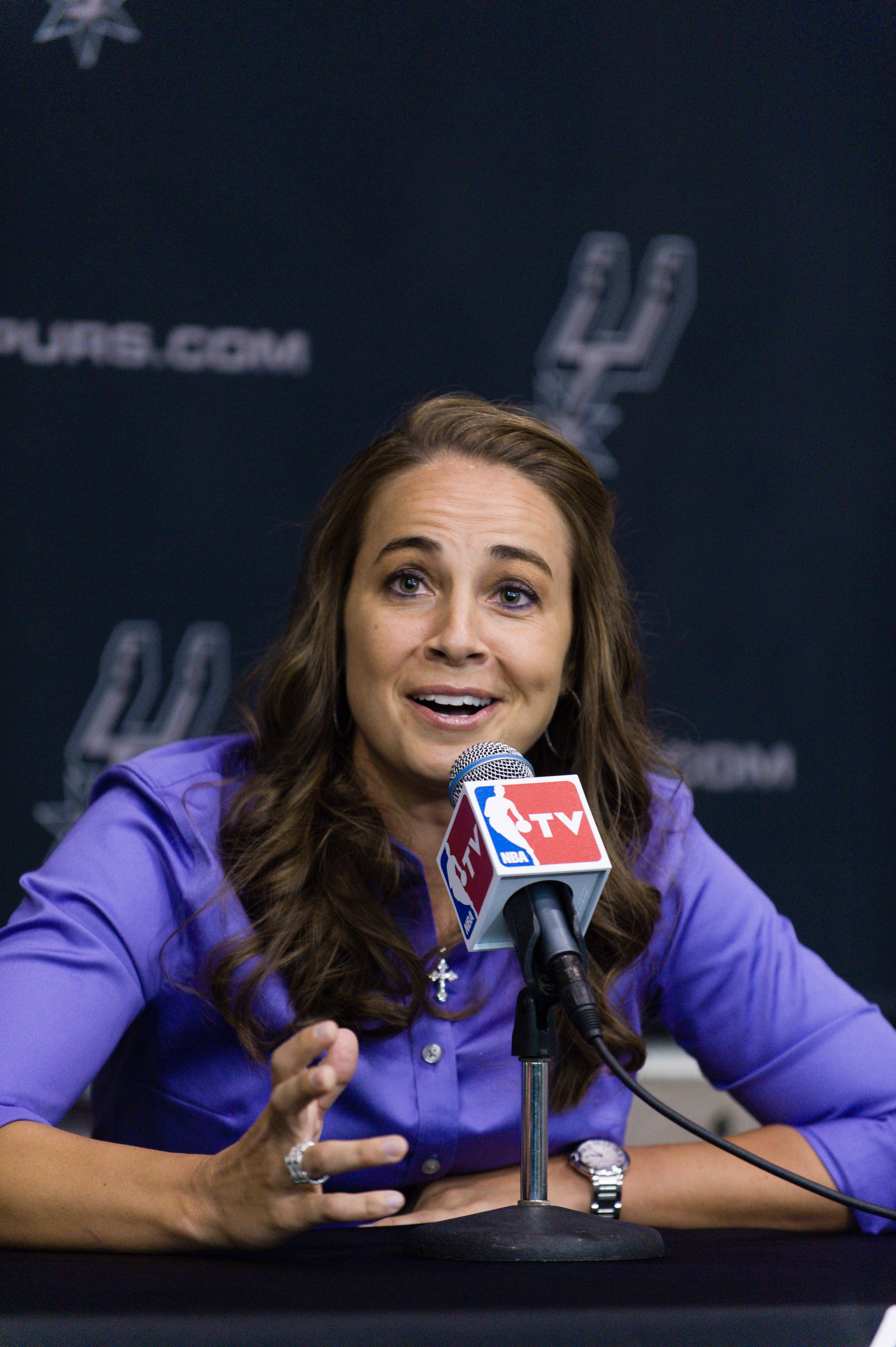Former WNBA star Becky Hammon of the San Antonio Spurs is the first full-time, paid female assistant on an NBA coaching staff.