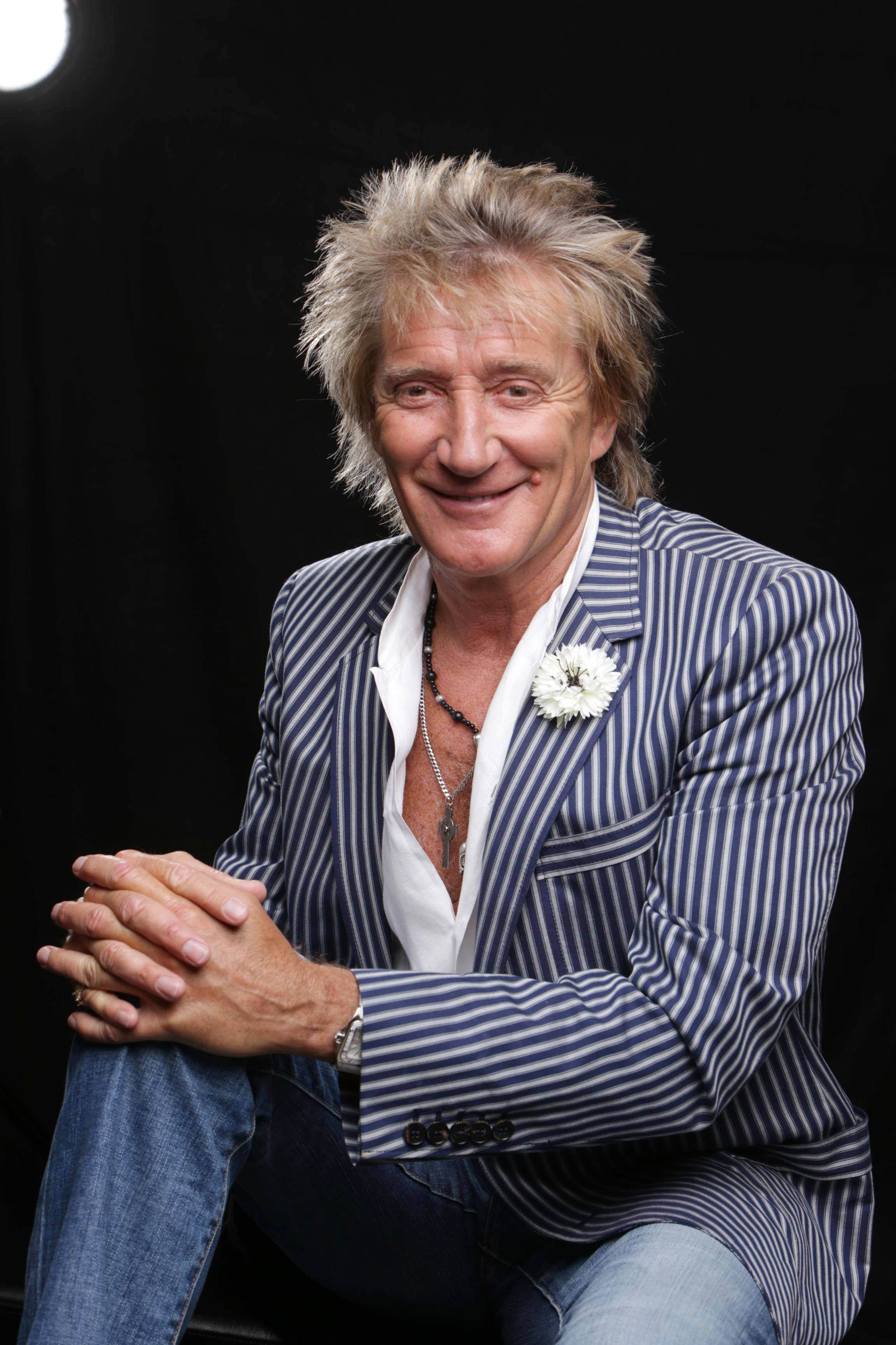 Rod Stewart performs in concert with Santana on Saturday, Aug. 16, at the Allstate Arena in Rosemont.
