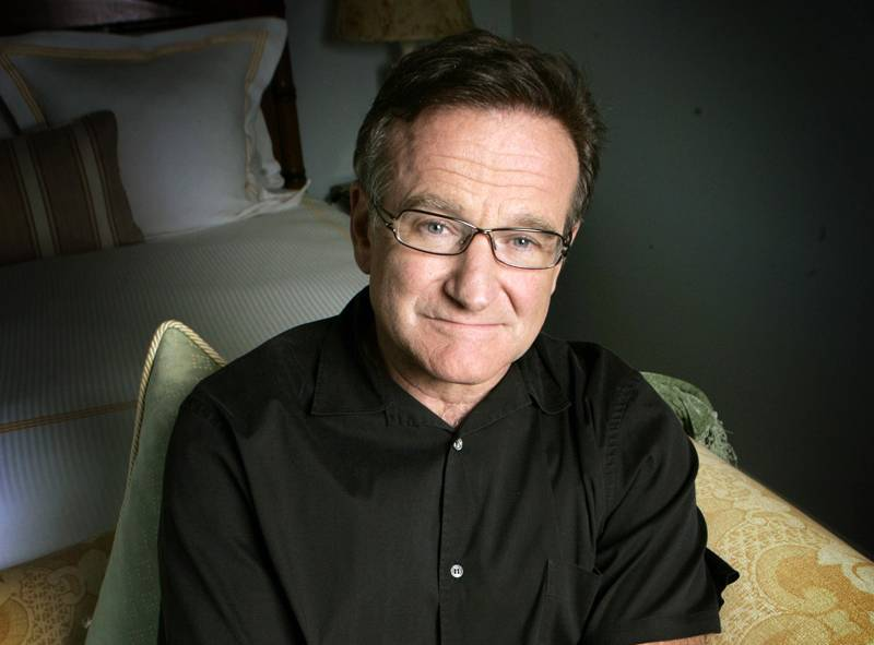 This June 15, 2007 file photo shows actor and comedian Robin Williams posing for a photo in Santa Monica, Calif. Williams, whose free-form comedy and adept impressions dazzled audiences for decades, died Monday, Aug. 11, 2014, in an apparent suicide. Williams was 63.