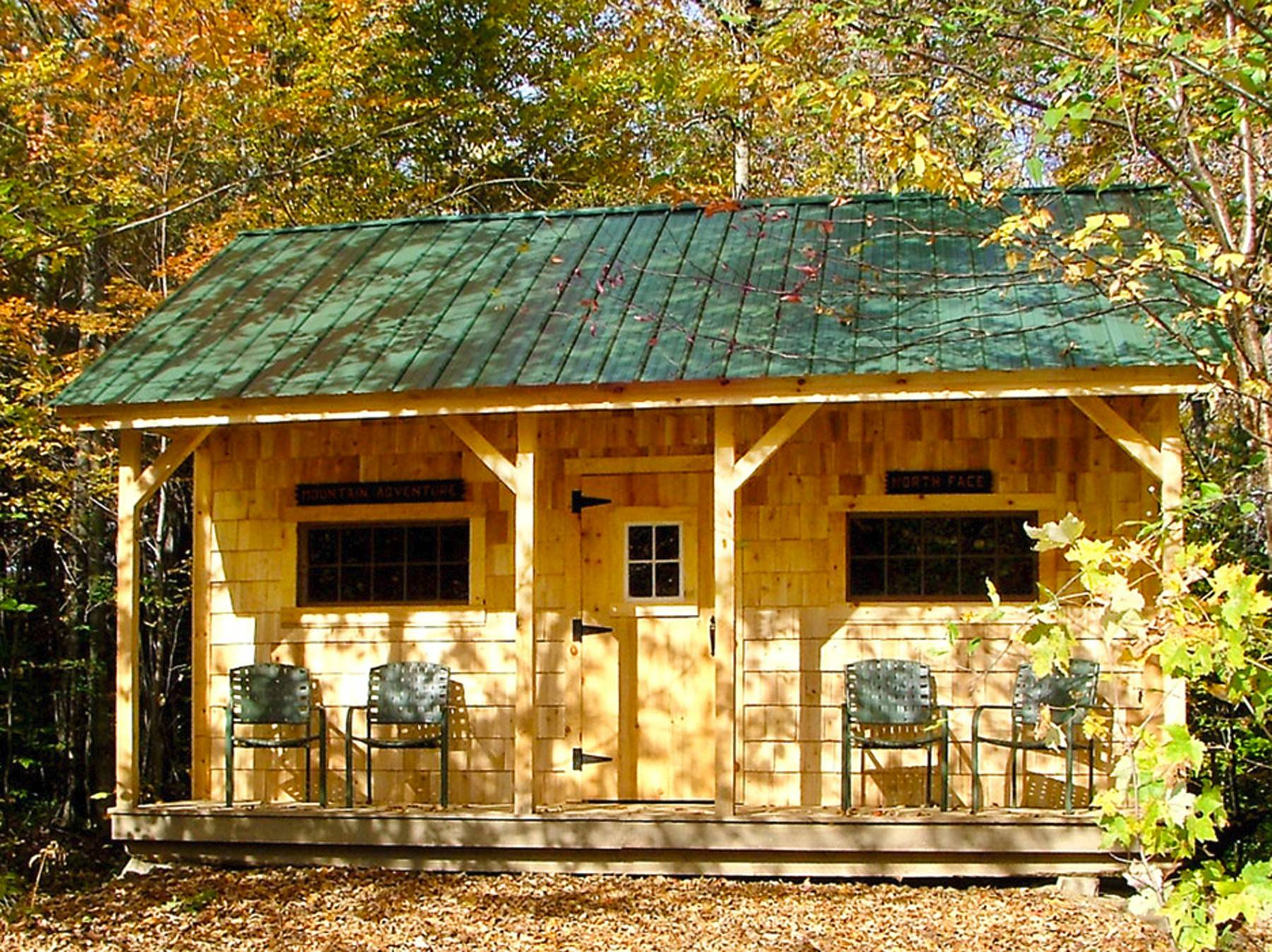 Many online companies sell pre-manufactured building kits, like this Vermont Cottage by the Jamaica Cottage Shop. This easy-to-assemble structures have many creative uses.
