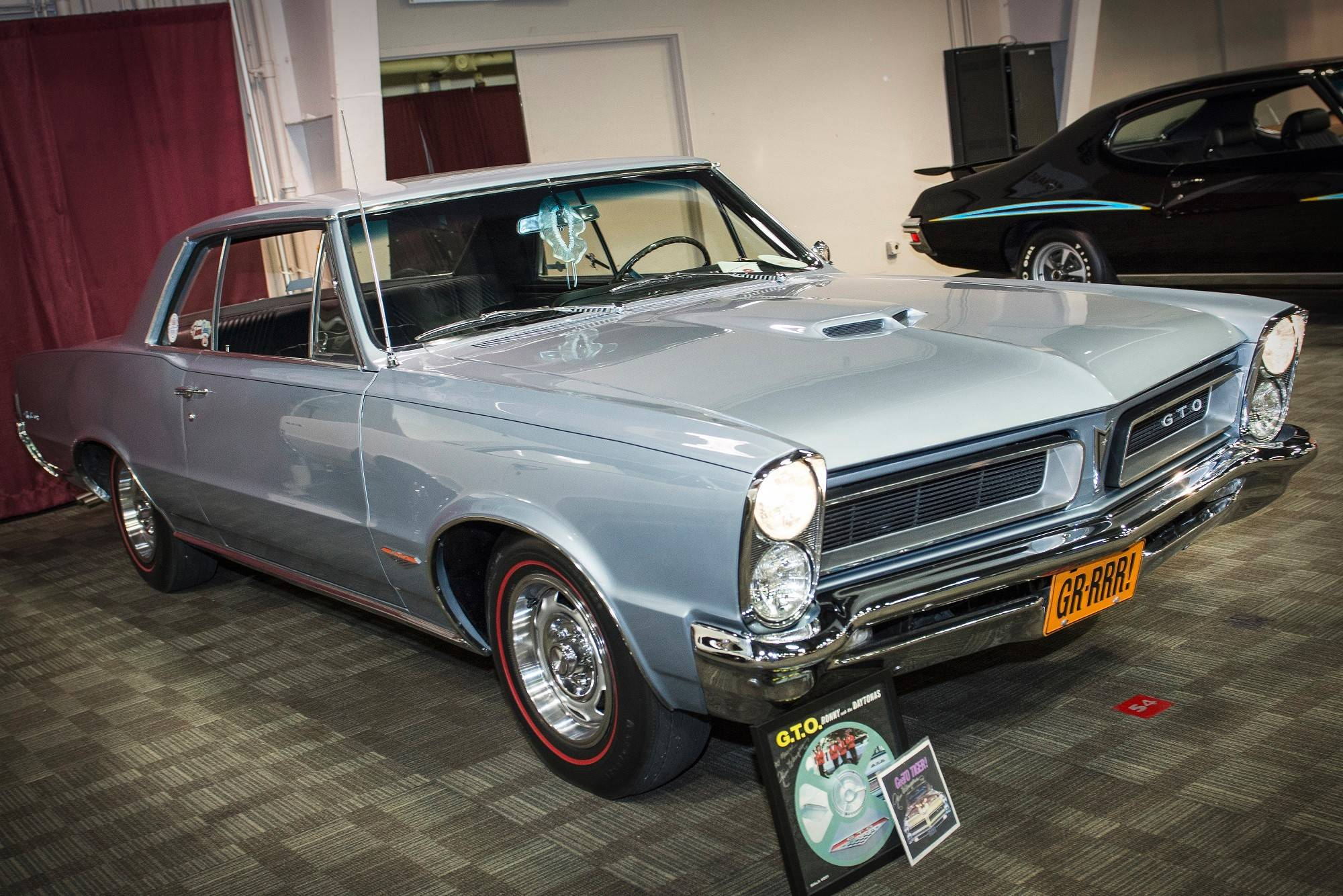 Minarich's GTO is painted in Bluemist Slate paint. It was originally delivered to a dealership in Ohio.