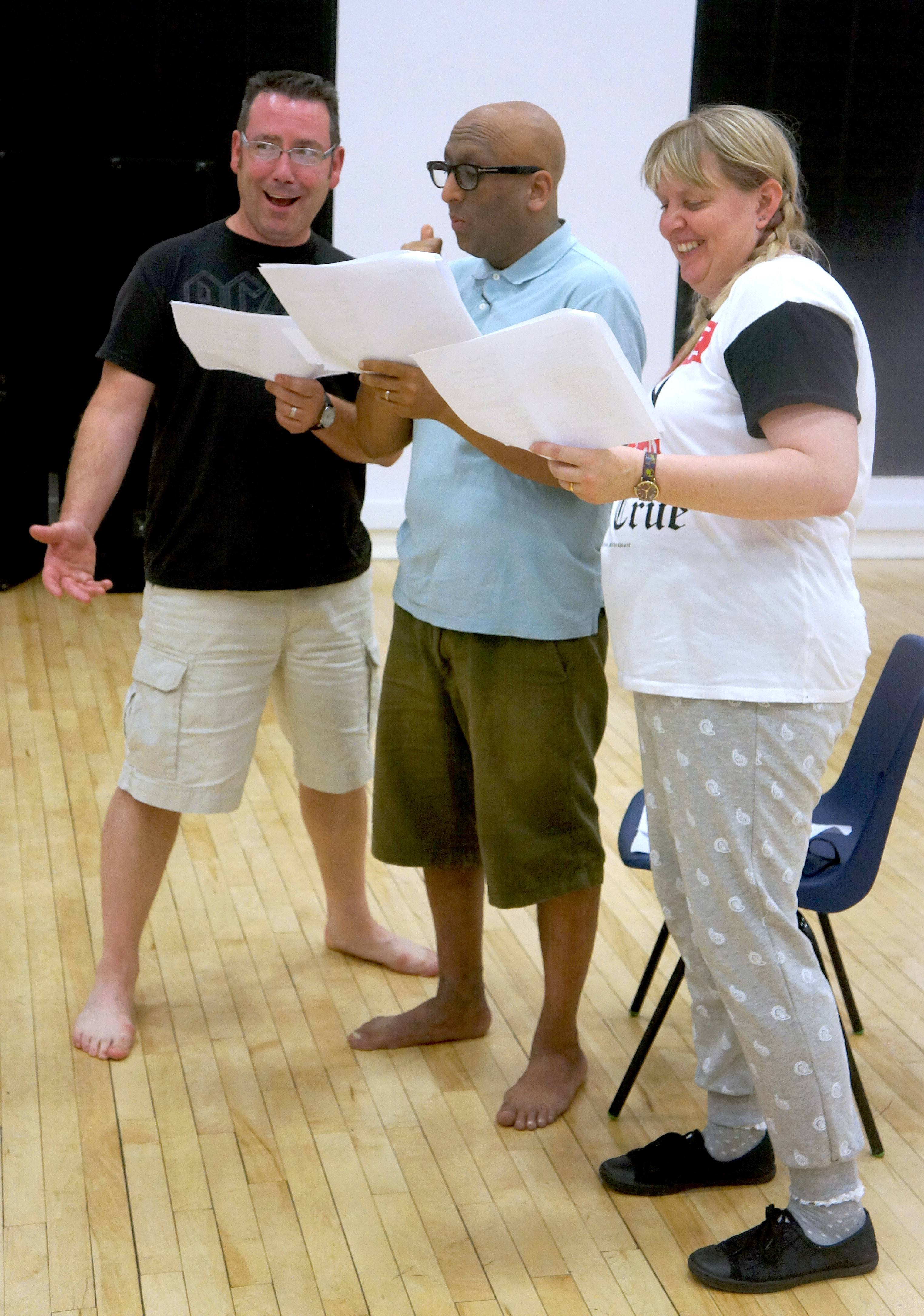 """This was a language exercise about the play King 'Henry IV,'"" said Sean Hargadon, at left. ""We're given the actor playing Henry different words at different times in the scene. It is all very random and fun."