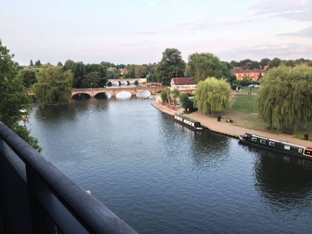 "Sean Hargadon of Elgin took this photo on a recent trip to England to learn Shakespearean acting techniques, ""This photo was taken from the rooftop restaurant at the Royal Shakespeare Company Theater,"" he said. ""It overlooks the Avon River. The bridge dates back to 1480."""