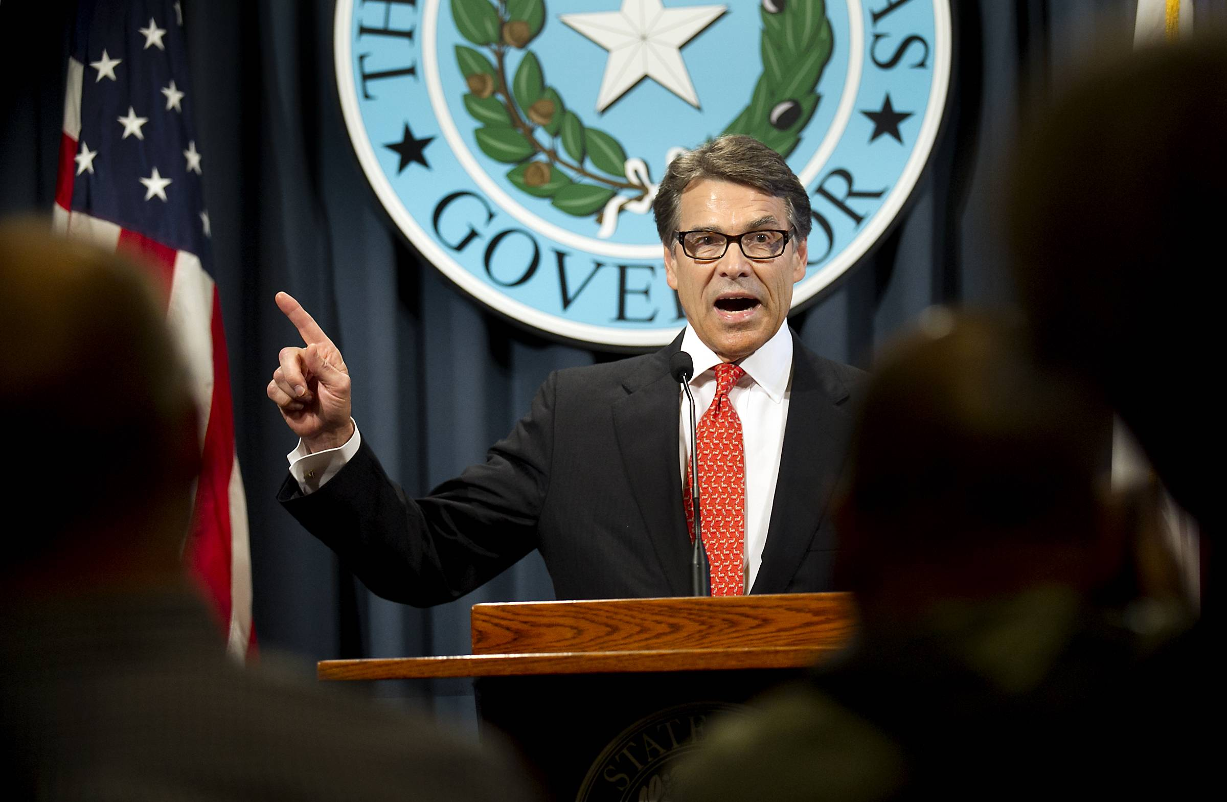 Associated PressGov. Rick Perry makes a statement in Austin, Texas Saturday concerning the indictment on charges of coercion of a public servant and abuse of his official capacity.