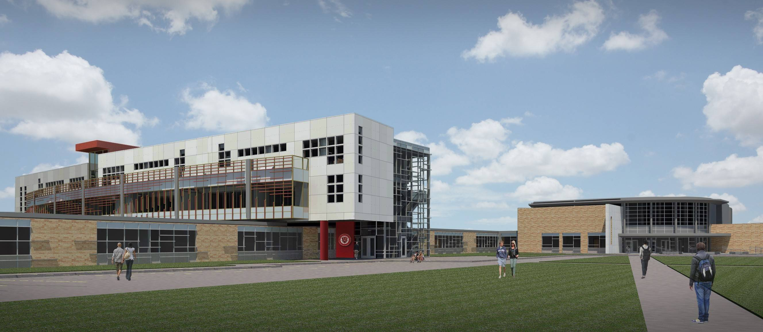 This is the architect's vision for the three-story expansion planned for Mundelein High School in 2015. The $23.6 million expansion will provide additional classroom and lab space for science and mathematics courses.
