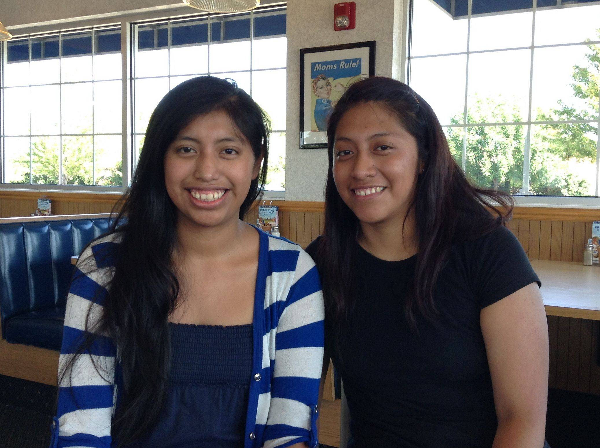 Daisy, left, and Brenda Martinez recently underwent kidney transplant surgery so that Brenda could give one of her kidneys to Daisy, who was diagnosed with end-stage renal disease in 2012. The sisters work together at the Culver's restaurant in Carol Stream.