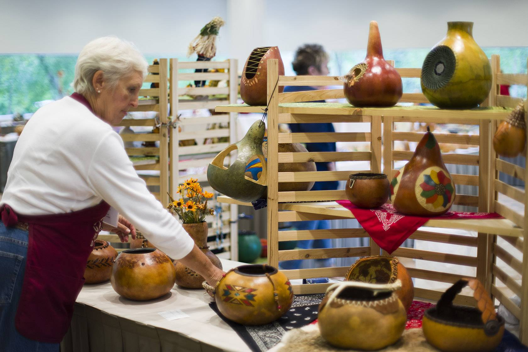 Artisans will offer a diverse variety of decorated gourds -- utilitarian birdhouses, whimsical folk art and fine art pieces -- at the Illinois Gourd Society Show & Sale.