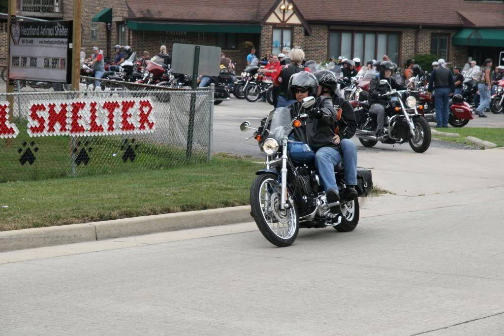 Riders take to the streets during a previous Hogs for Dogs (and Kitties Too) event to benefit Heartland Animal Shelter. This year's charity ride will be held Sunday, Sept. 7. For information, visit heartlandanimalshelter.net.
