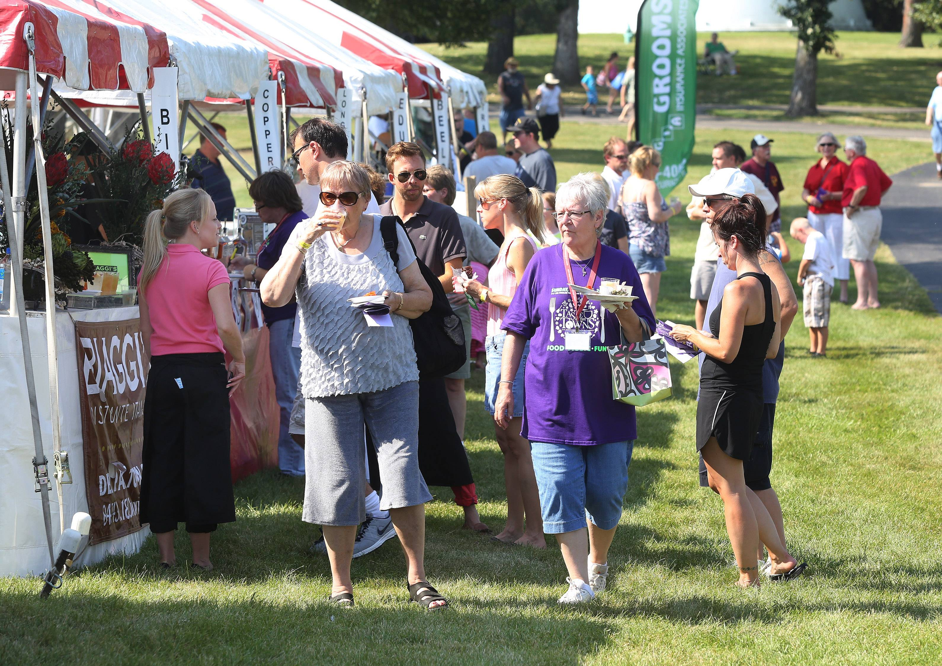 The eighth annual Lake Zurich Taste of the Towns is Sunday at Paulus Park. The event includes restaurants, wineries, breweries and grocery stores from around the area.