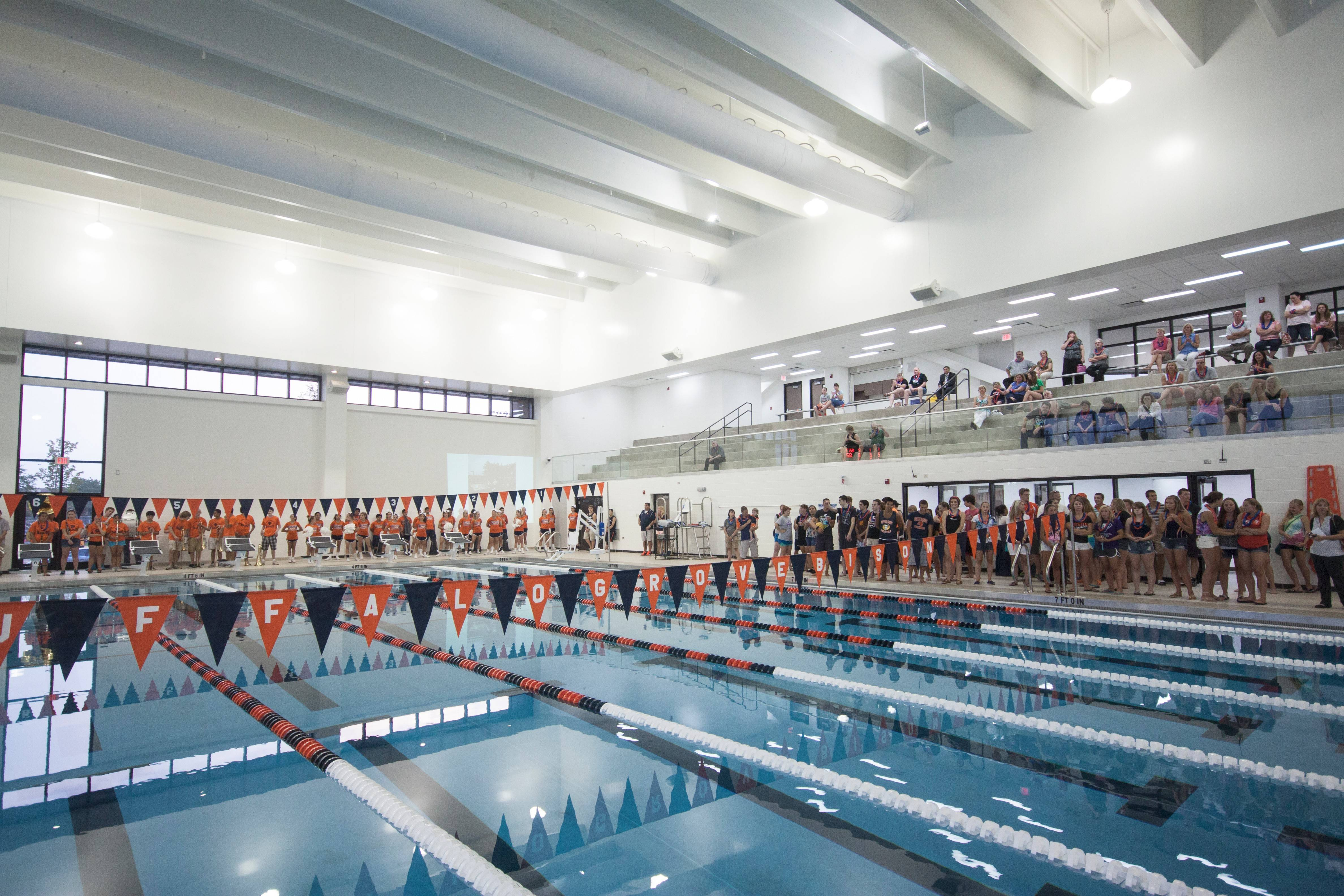 The newly renovated Buffalo Grove High School swimming pool is open for students and the community following a dedication ceremony on Aug. 11.