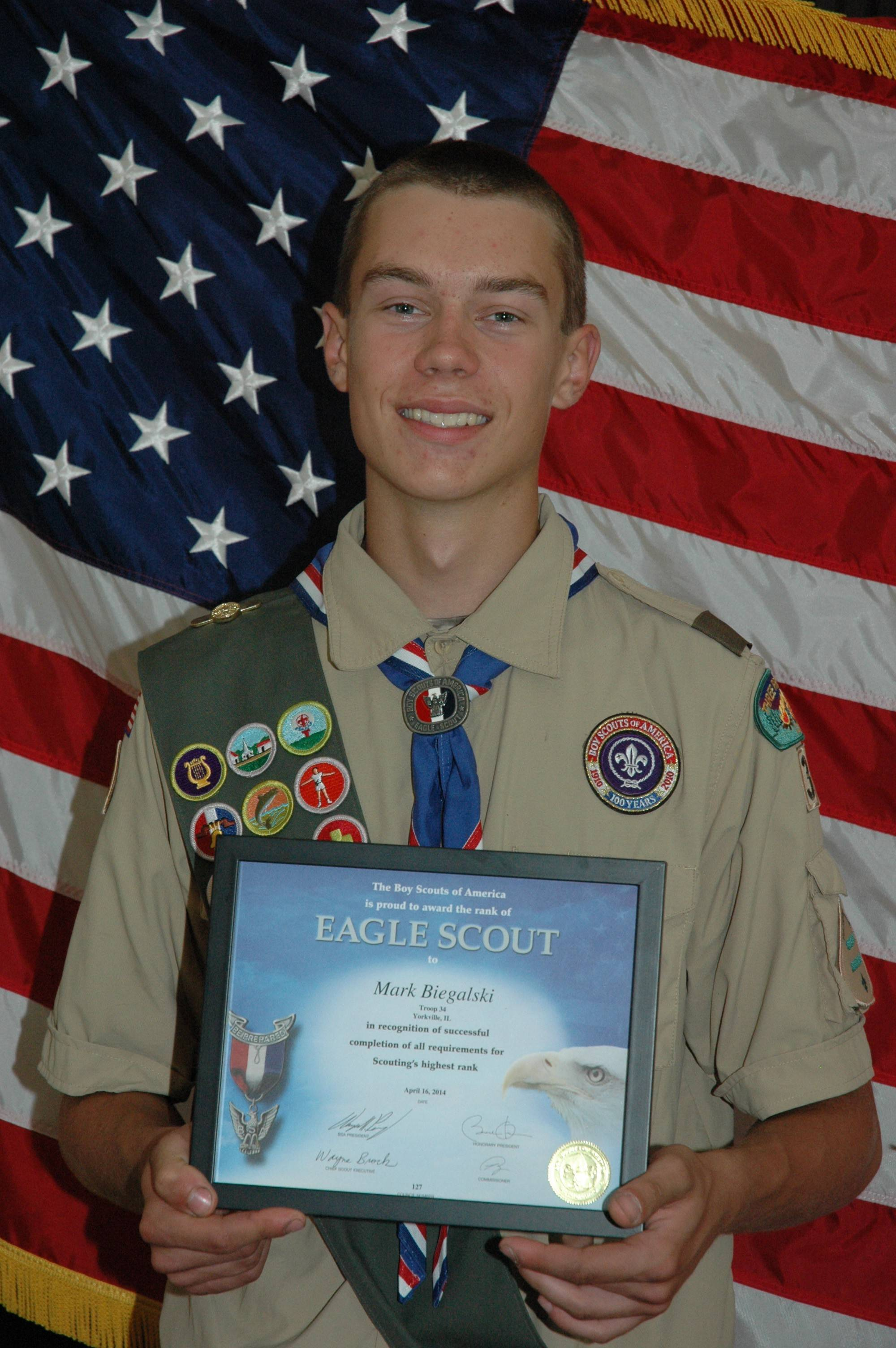 Eagle Scout Mark Biegalski