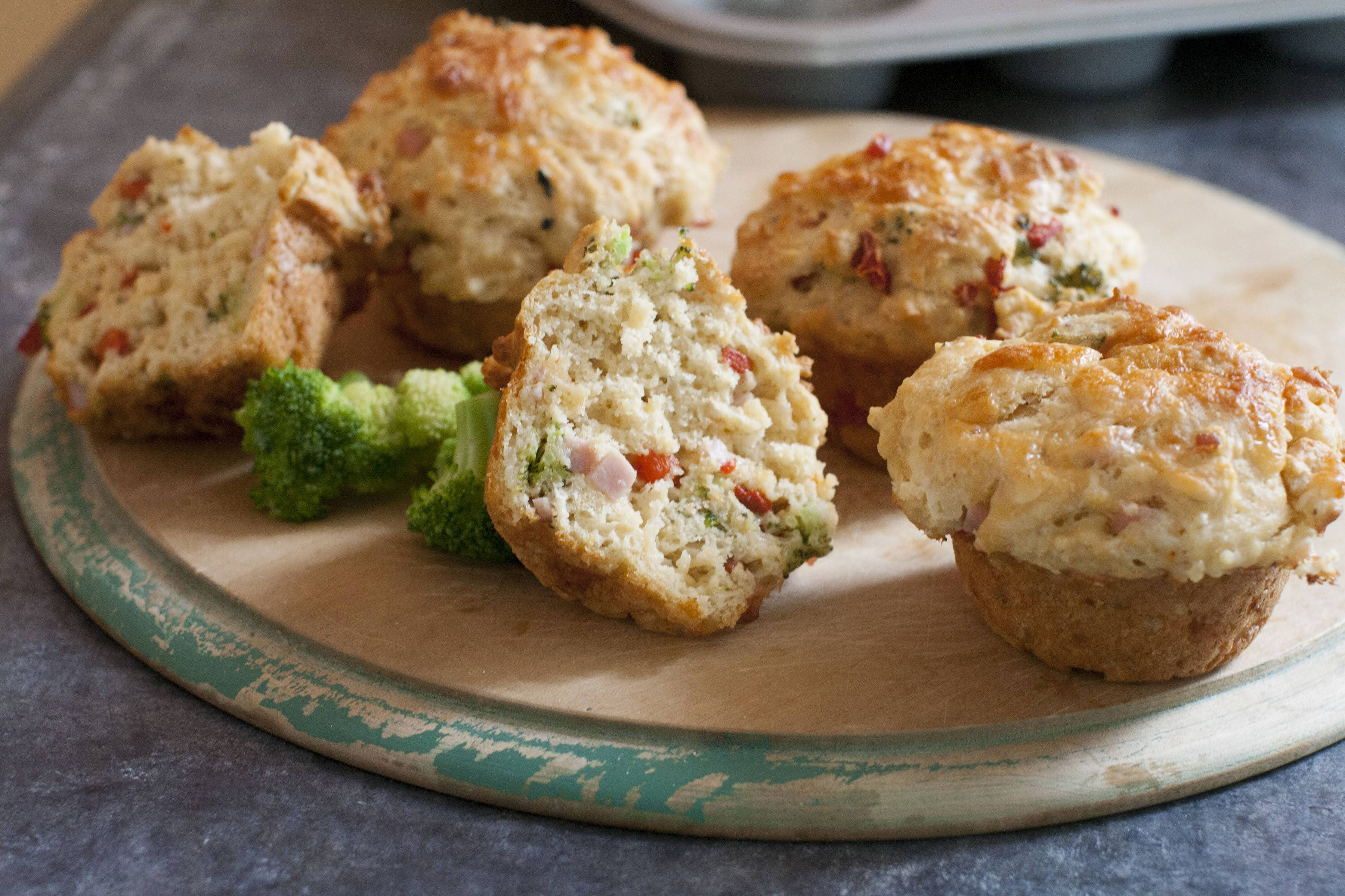 Broccoli Cheddar Breakfast Muffins get the school day, or work day, off to a healthy start.