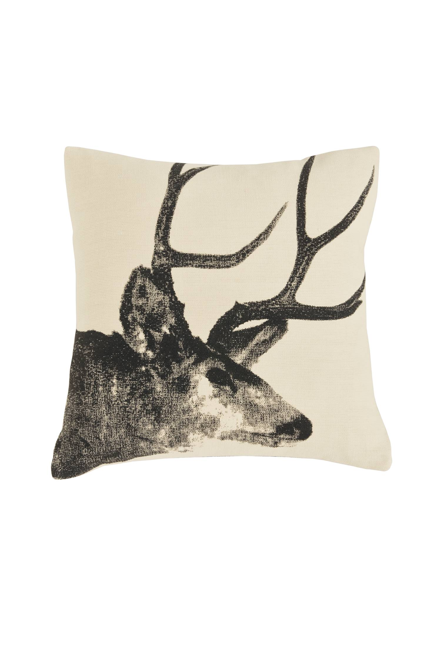 Michelle Pattee's photo of a stag is silk-screened onto hemp fabric, and backed with cotton velvet to make a striking throw pillow from Pendleton-usa.com.