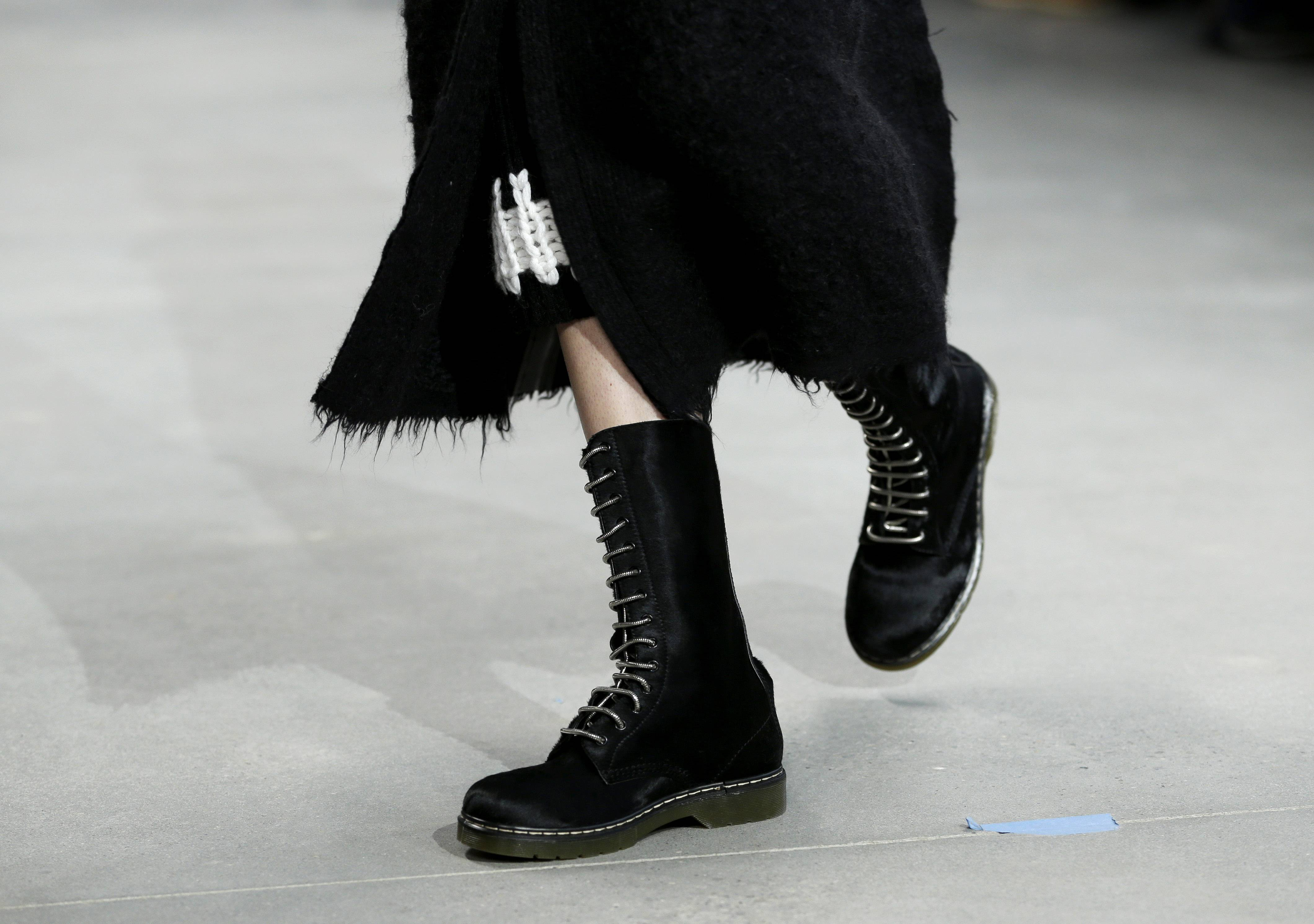 Hiking boots, like these from Calvin Klein, are predicted to be popular this fall.