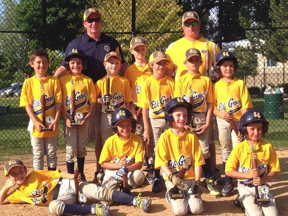 The 8U Elk Grove Travelers, runners-up in both the Fastballs and Fireworks Invites and also the Black & Gold World Series.