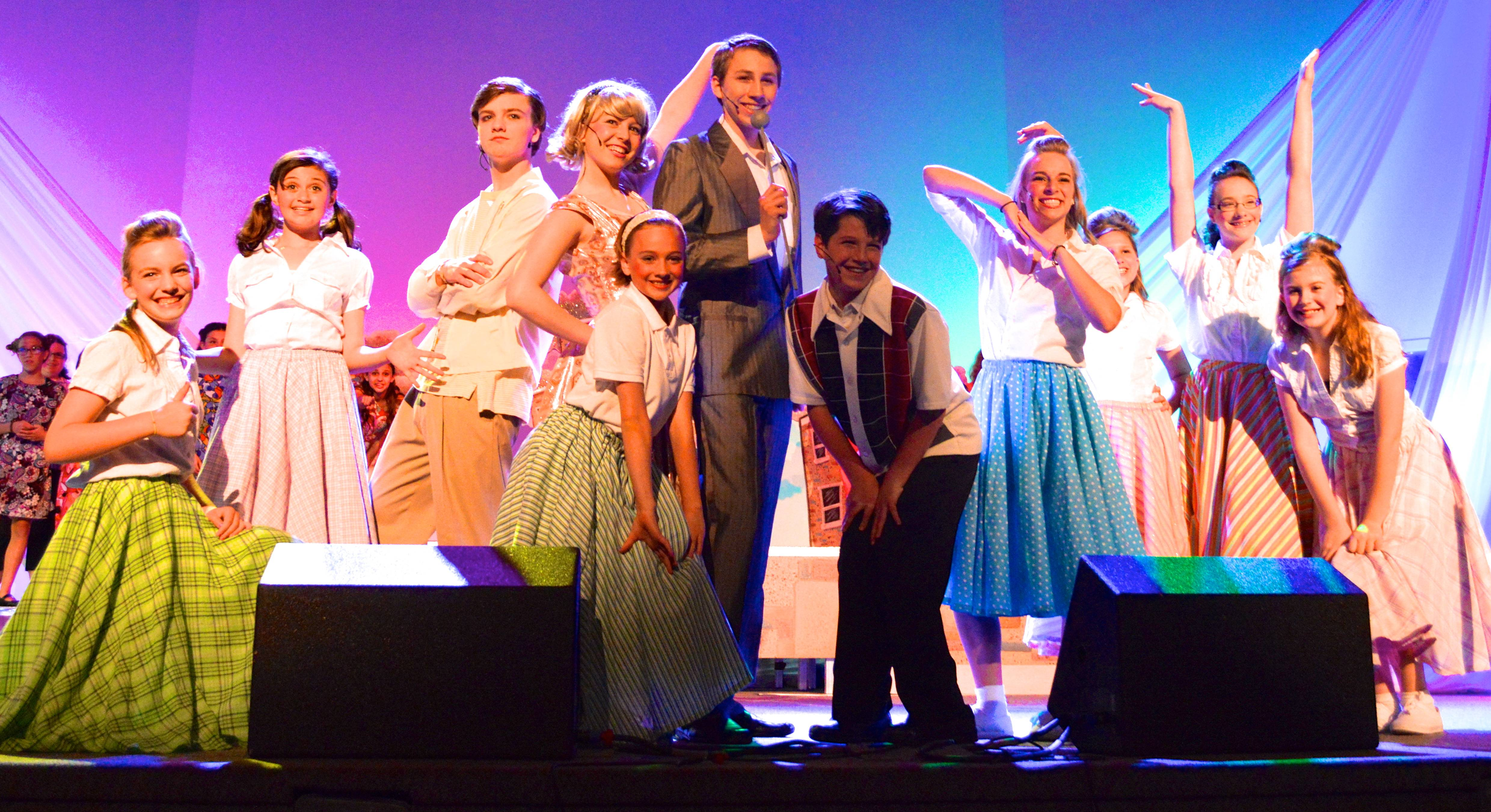 "Standing Ovation Theatre Academy students perform ""Hairspray Jr."" in June."
