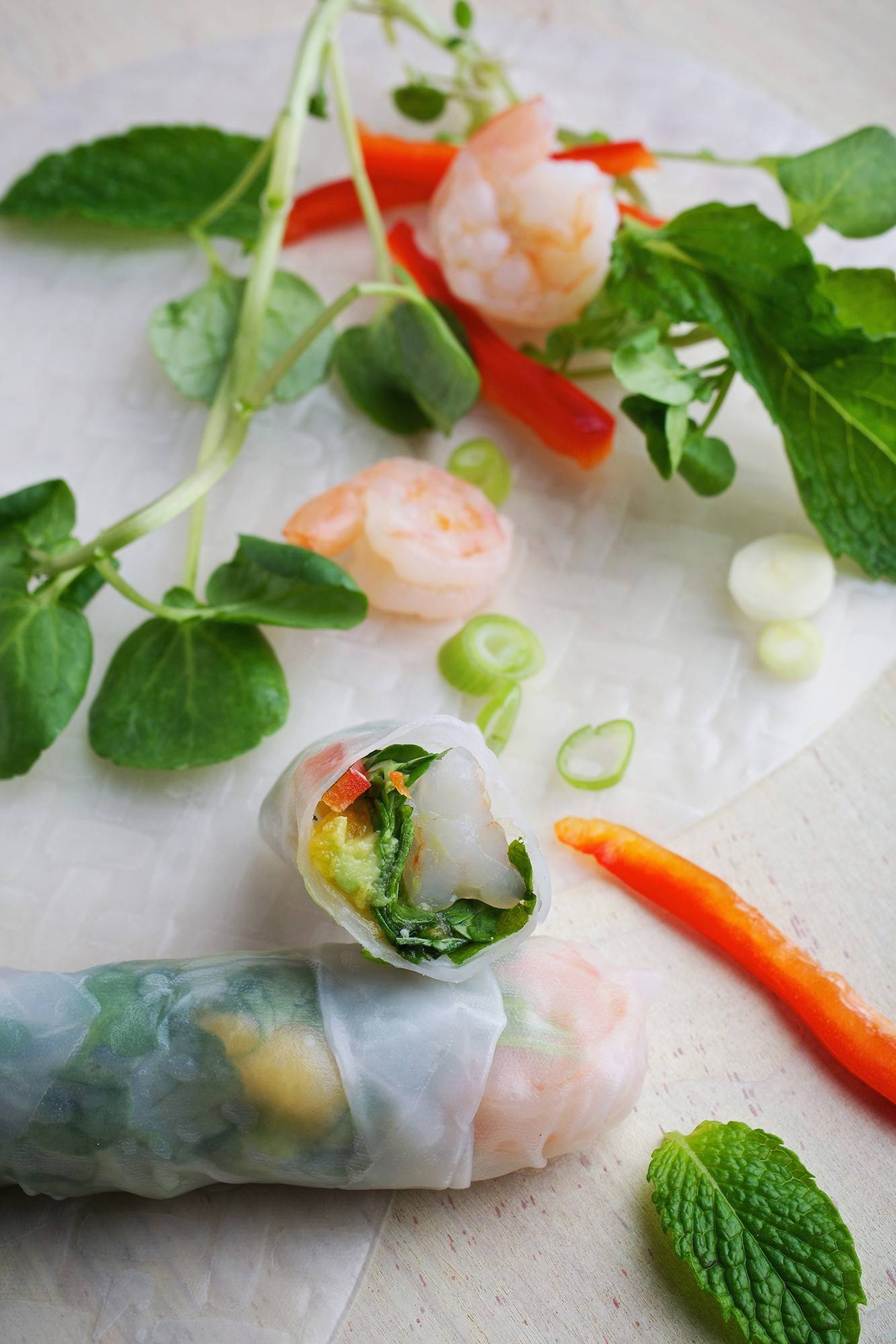 At this time of year, summer rolls are a great way to use powerhouse foods like watercress without falling into a salad slump.