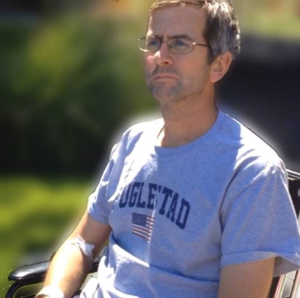 Dave Fuglestad, a Buffalo Grove High School teacher, is recovering from a motorcycle accident at the Rehabilitation Institute of Chicago. Last week he got his first few minutes of fresh air since his accident on Aug. 2.