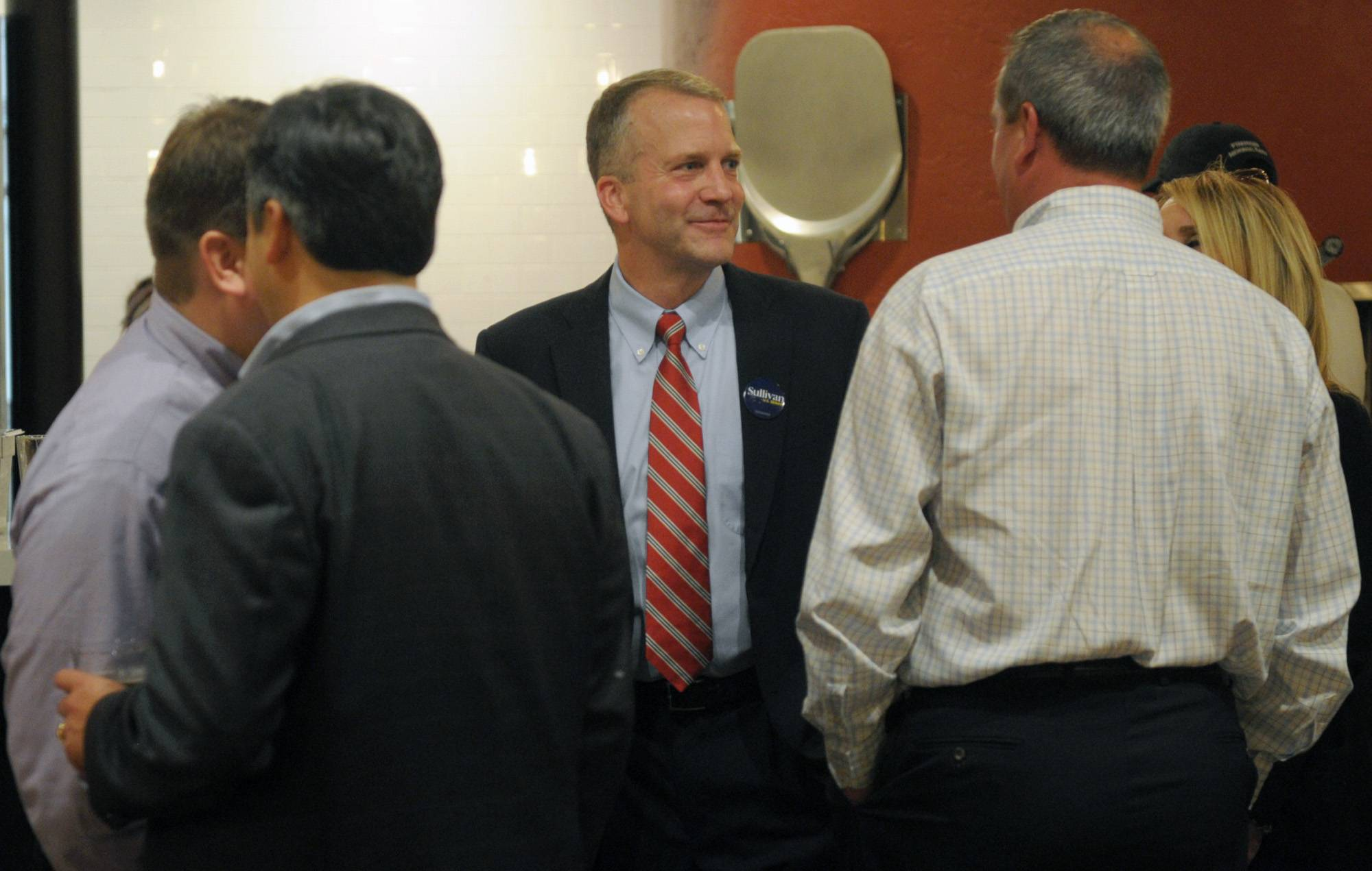 Former state Attorney General Dan Sullivan became the latest mainstream Republican to turn back a Tea Party challenger, winning the Alaska GOP primary to become his party's candidate to take on U.S. Sen. Mark Begich in the fall.