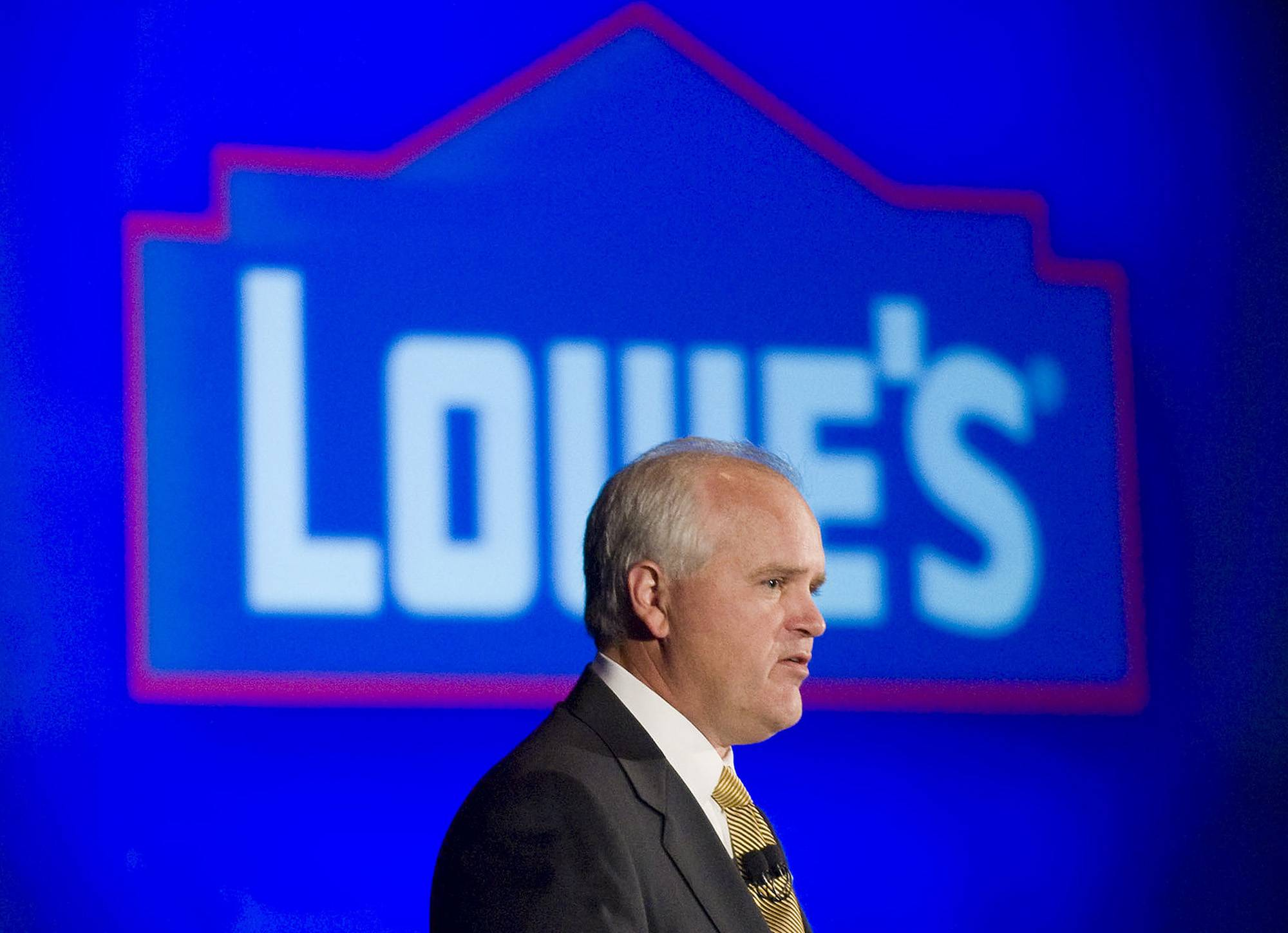 Robert Niblock, chief executive officer of Lowe's. Lowe's second-quarter net income increased 10 percent, bolstered by improving weather.