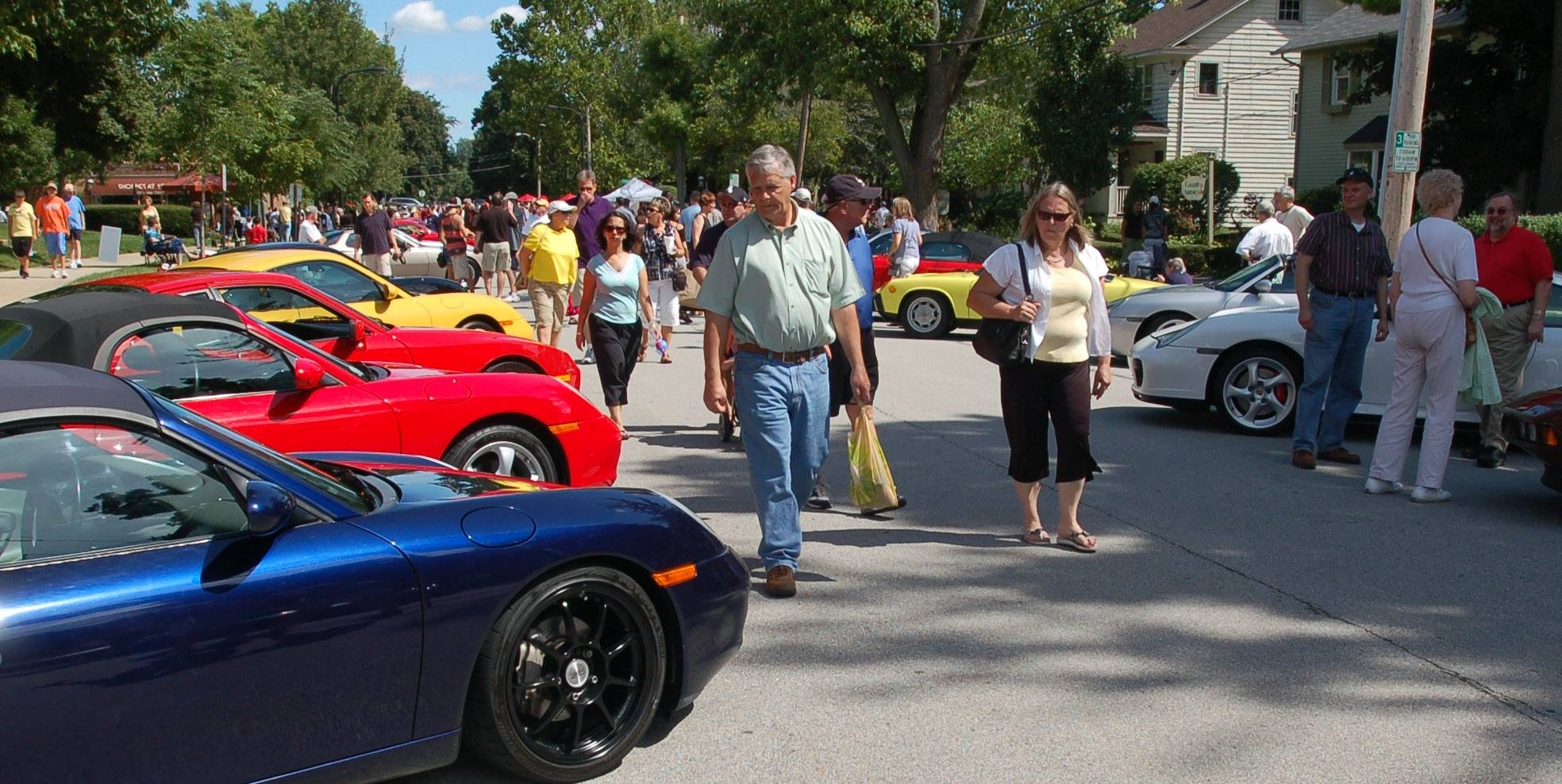 Thousands of visitors fill downtown each year for the Geneva Concours d'Elegance classic car show.