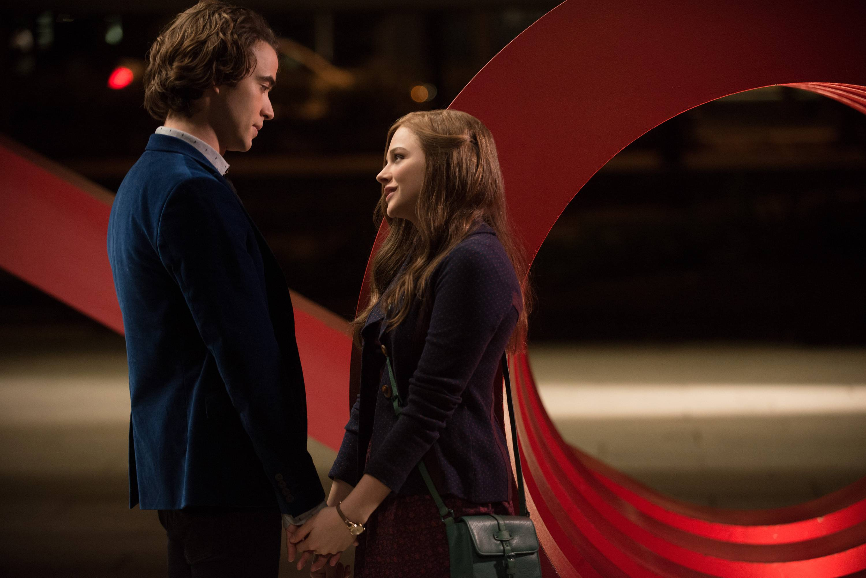 "Adam (Jamie Blackley) falls for Mia (Chloe Grace Moretz) in the supernatural romance ""If I Stay."""