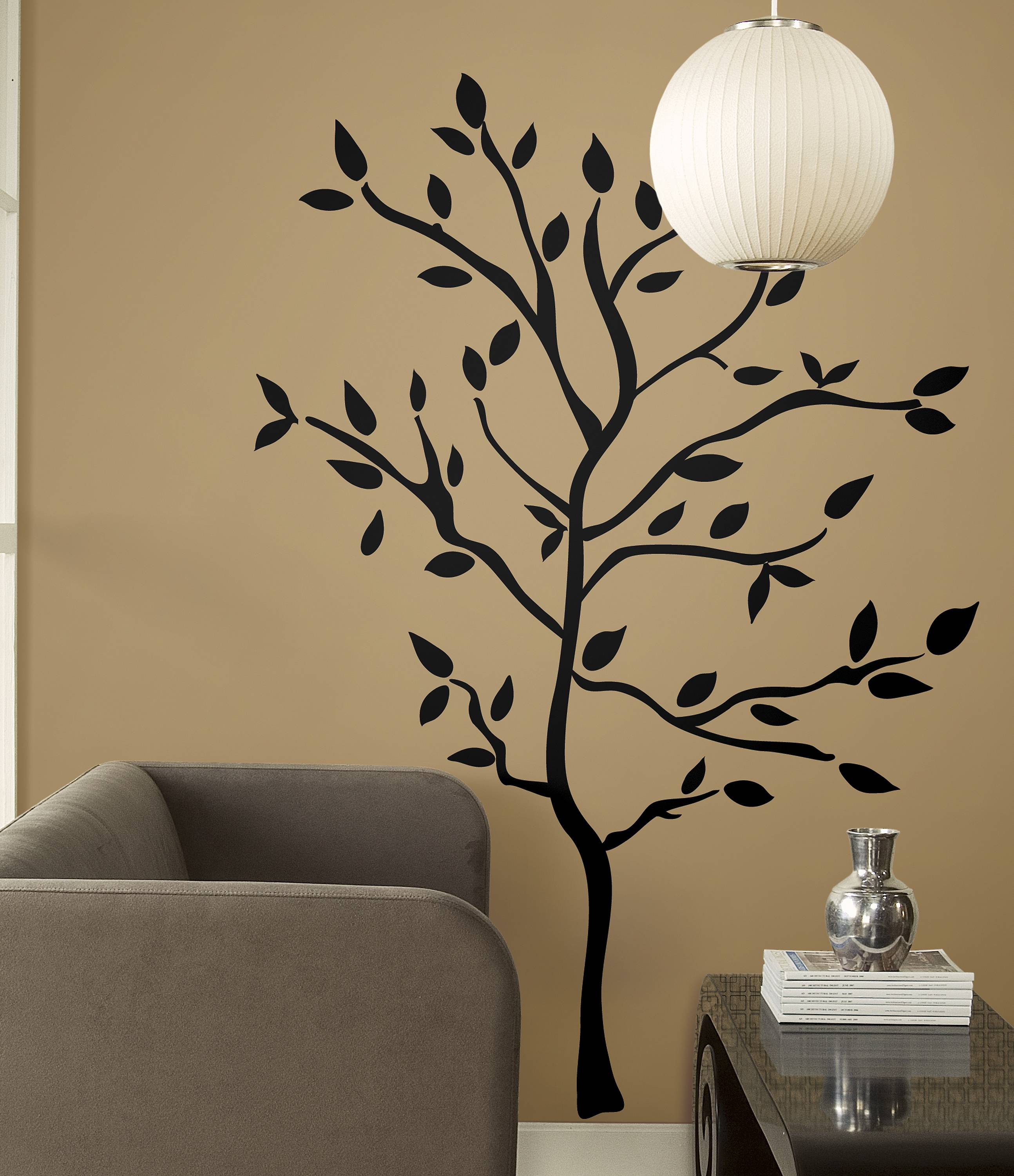 This large, removable decal adds interesting art to a painted wall for little money. Decals can be removed at the end of a semester when its time to move.