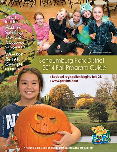 The Fall Program Guide is available online and at Schaumburg Park District facilities.Schaumburg Park District